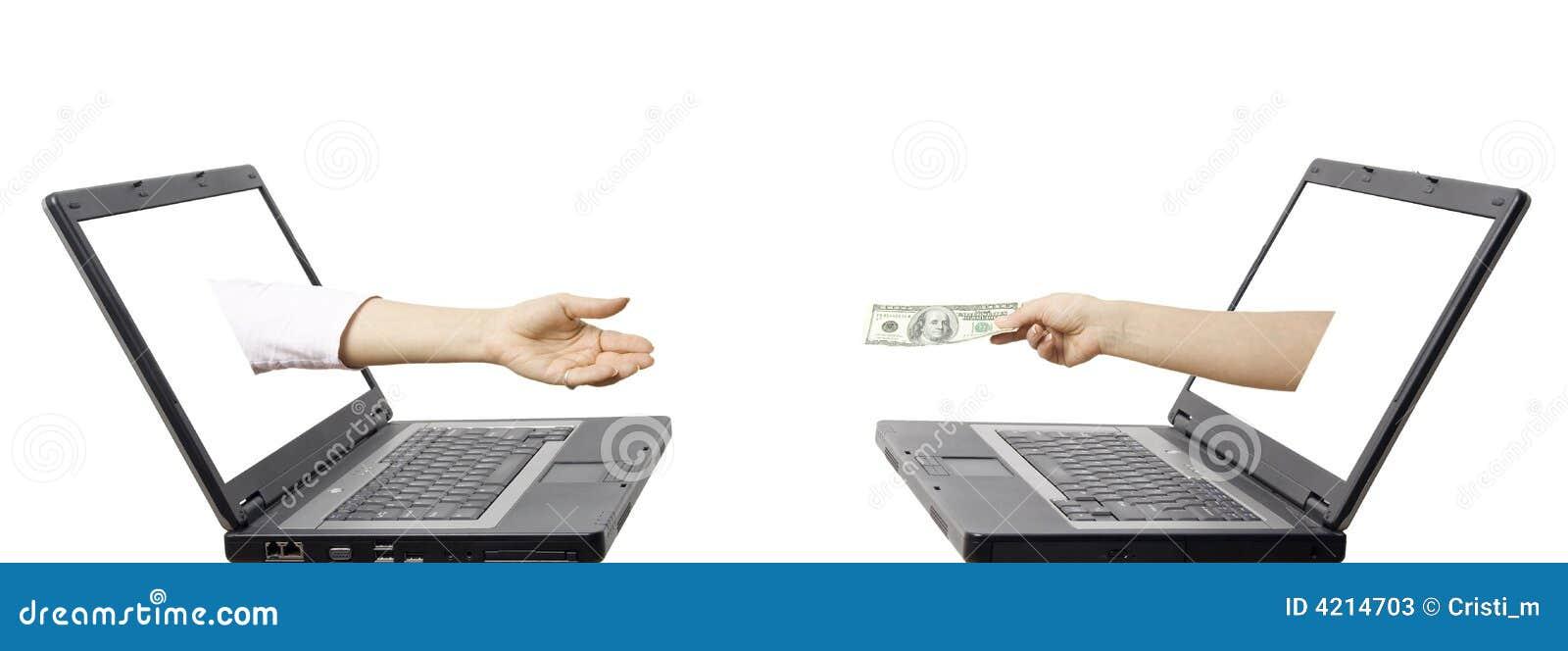 concept de transfert d 39 argent lectronique photos stock image 4214703. Black Bedroom Furniture Sets. Home Design Ideas
