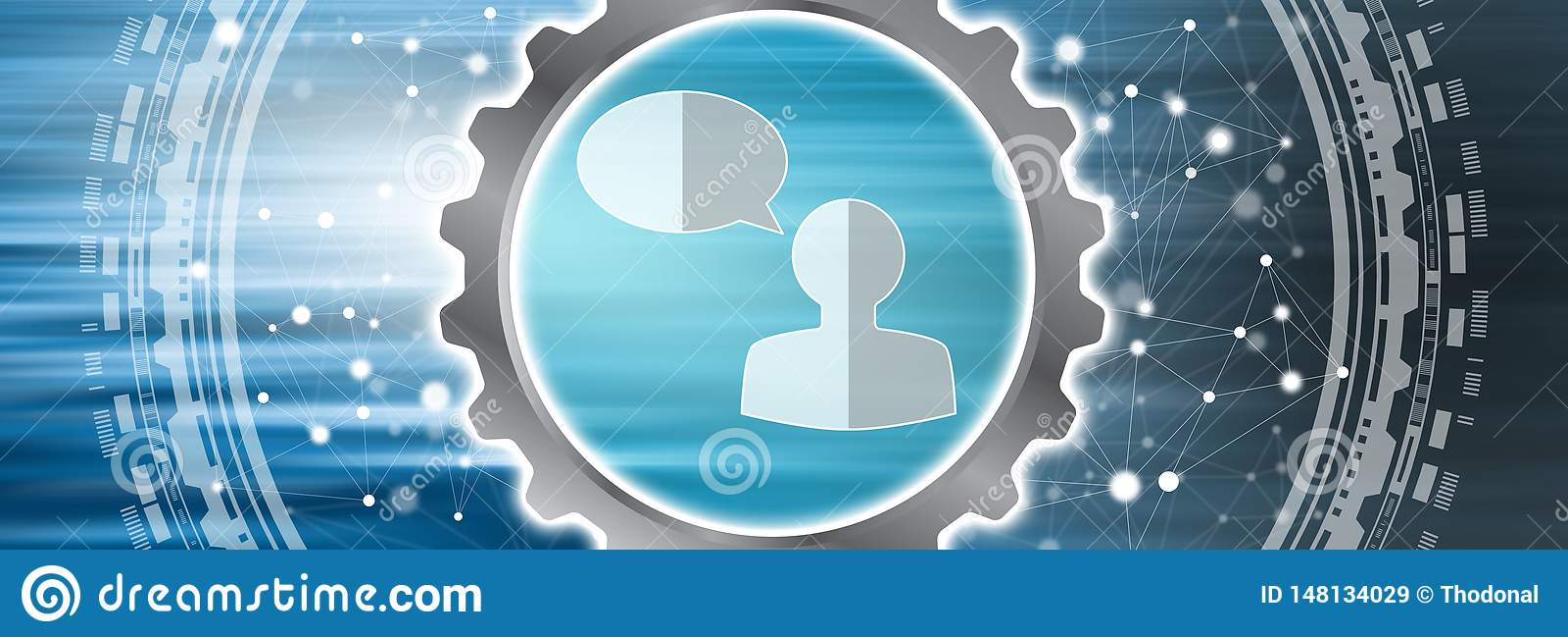 Concept de transmission de messages en ligne