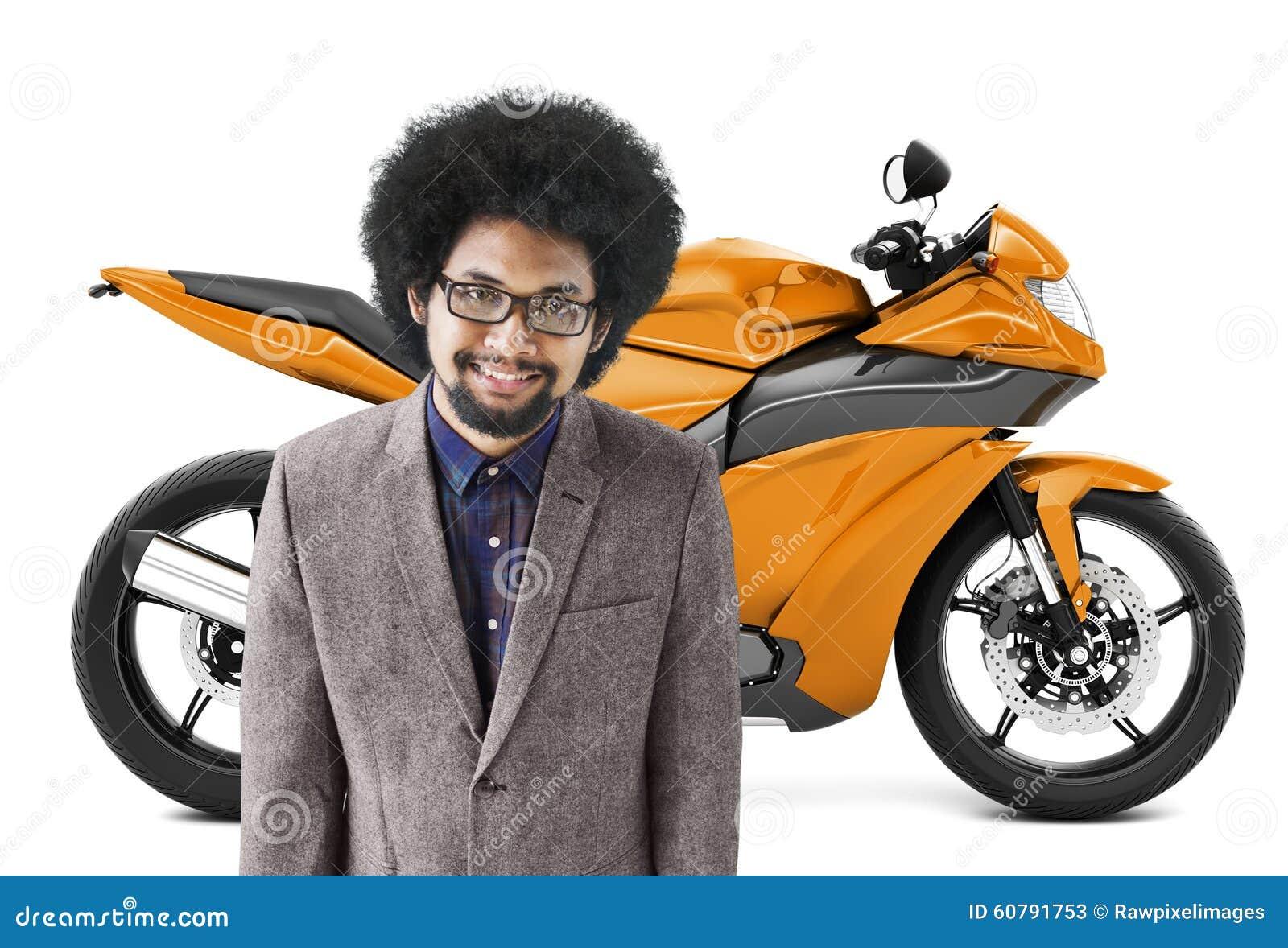 Concept de transport de roadster de vélo de moto de motocyclette