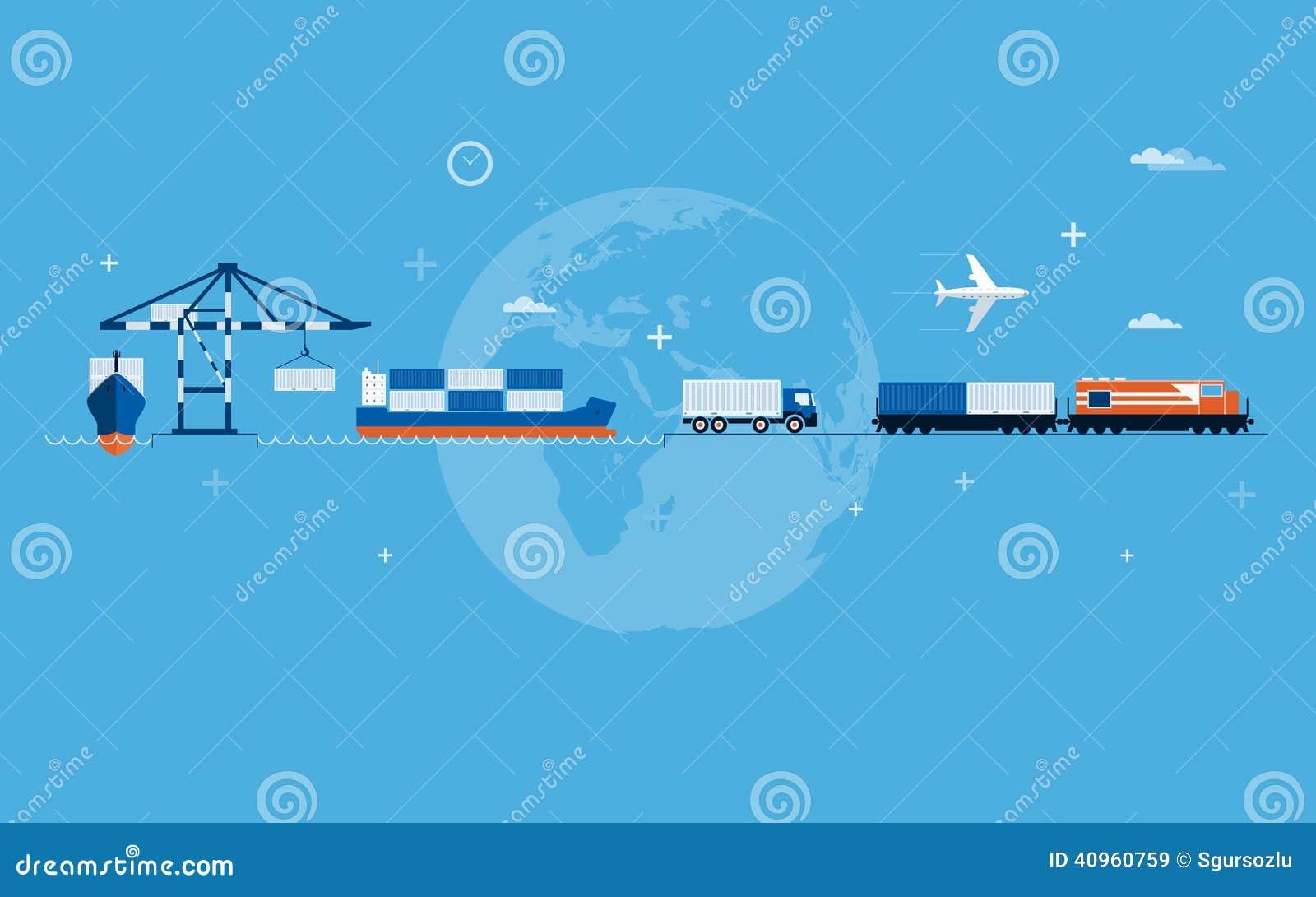 Concept de transport du monde