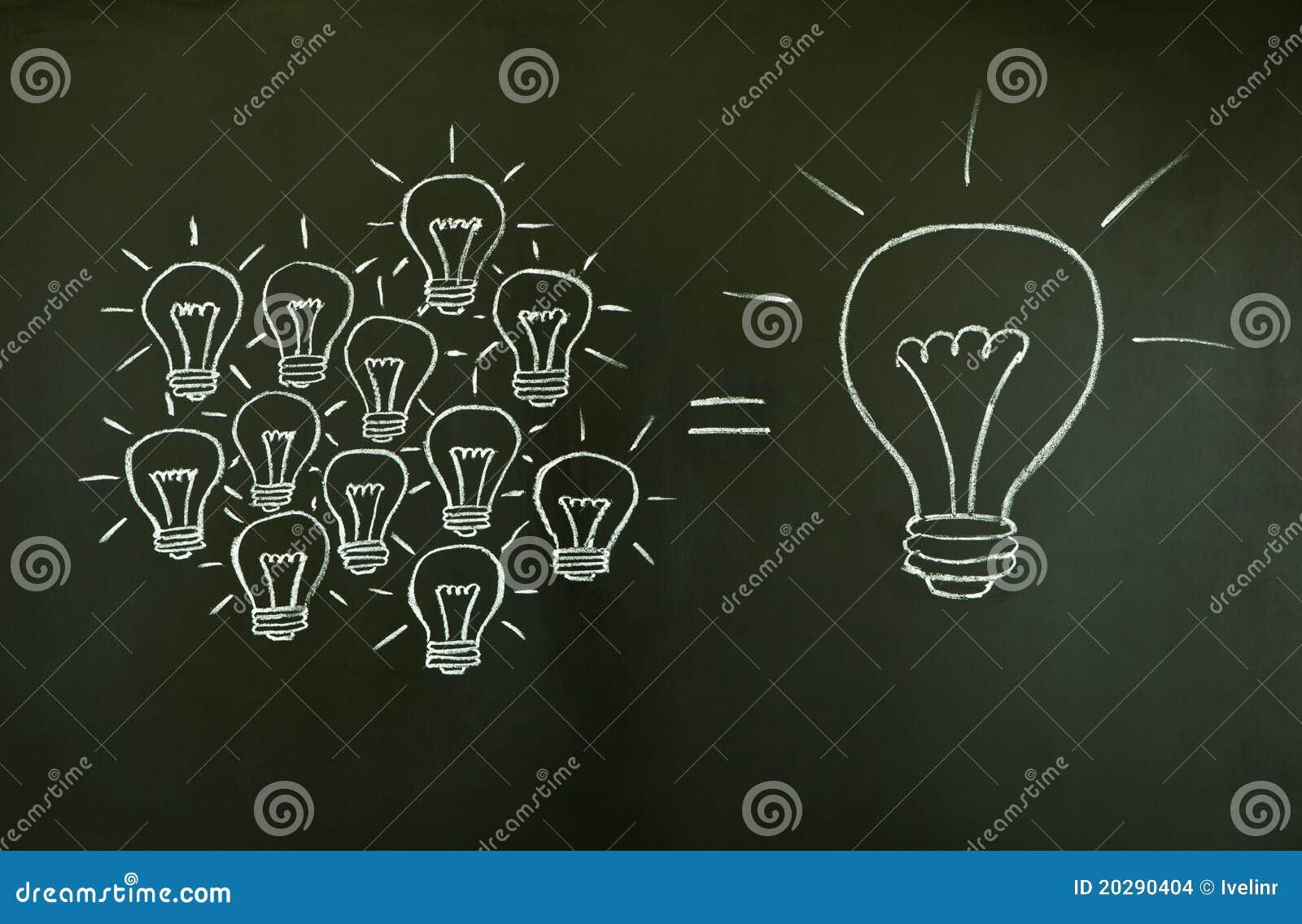 Concept de travail d équipe d ampoules