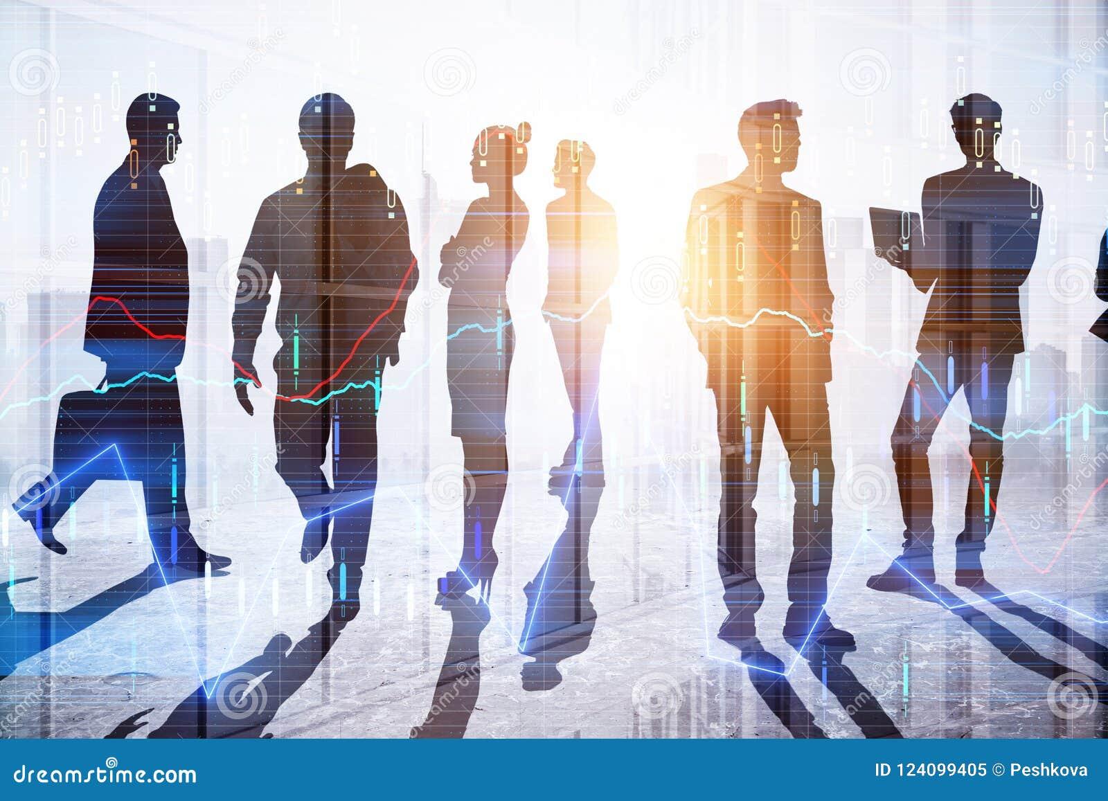 Concept de travail d équipe et d investissement