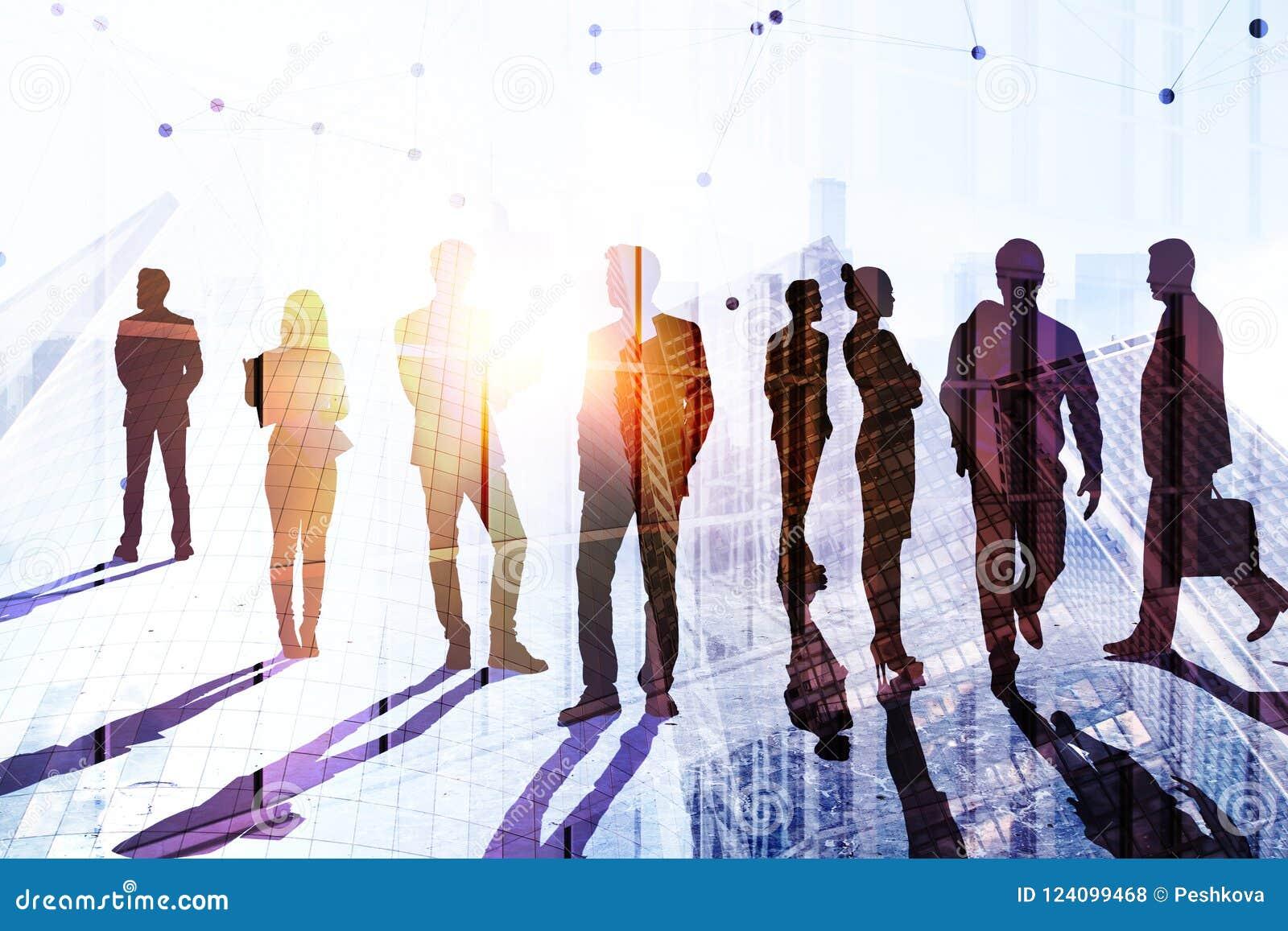 Concept de travail d équipe, de succès et de conférence