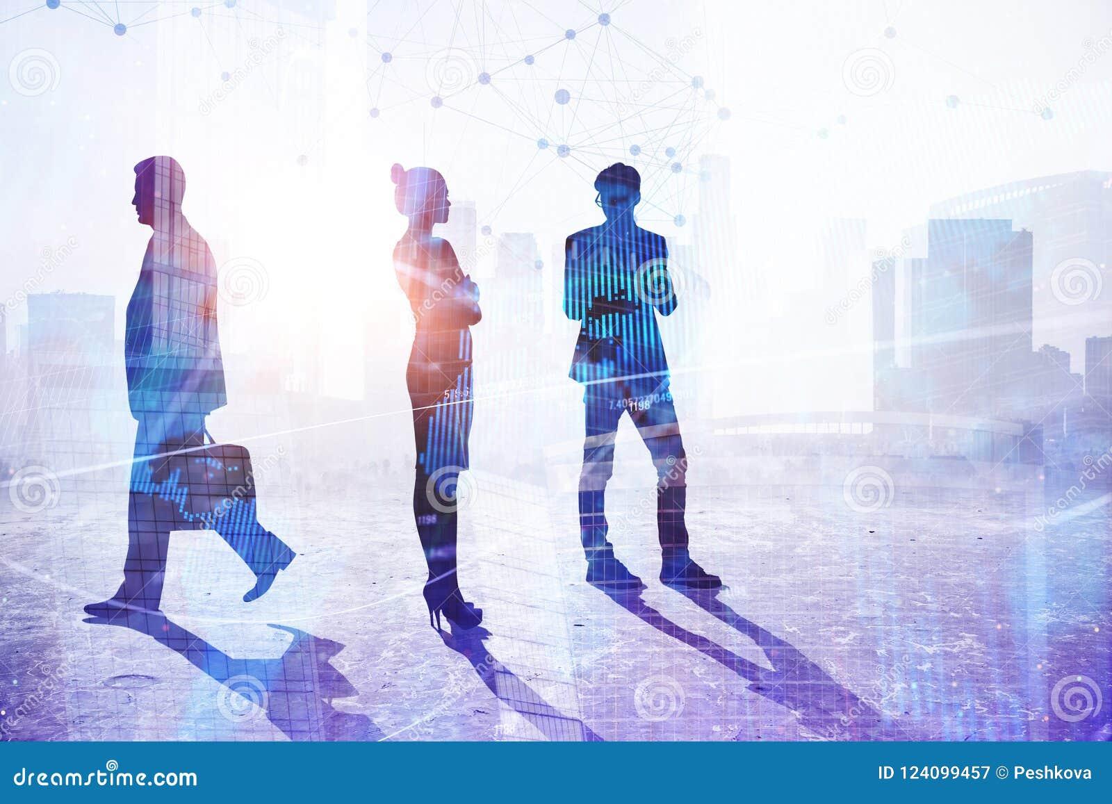 Concept de travail d équipe, de succès et de profession