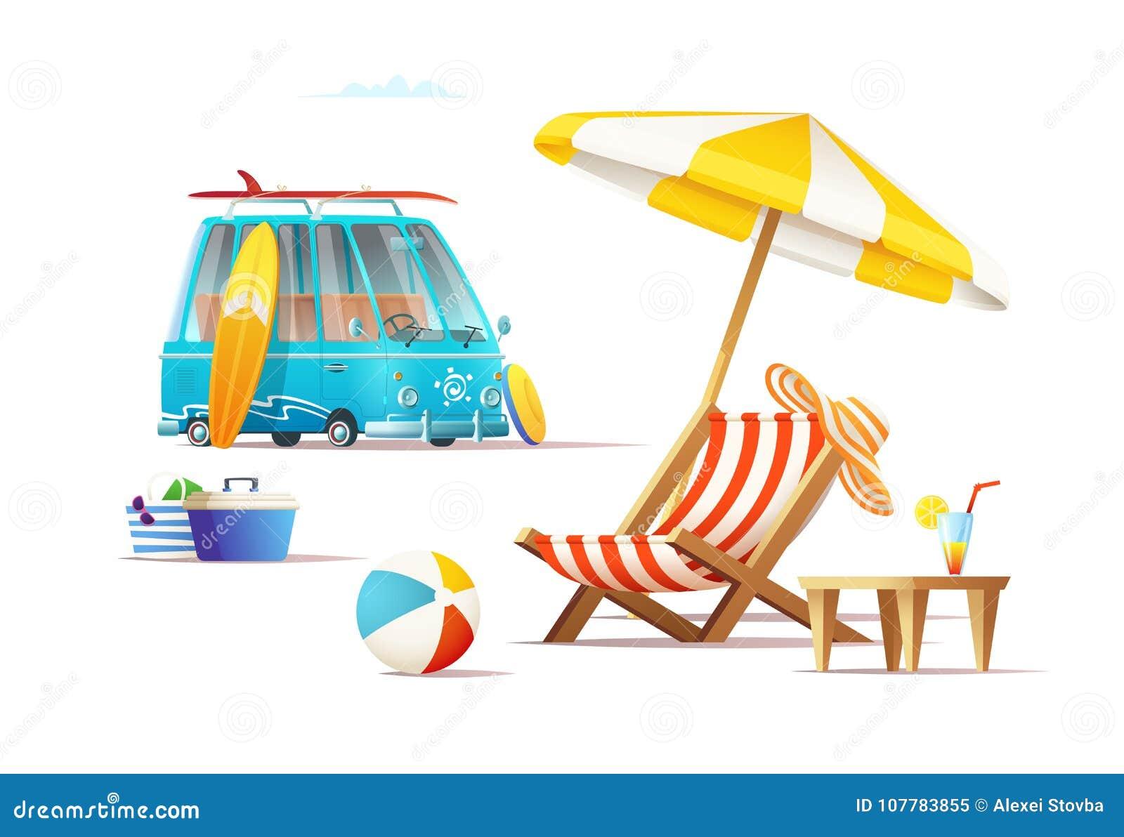 Concept De Vacances De Voyage D Ete Illustration De Dessin Anime Illustration Stock Illustration Du Anime Concept 107783855