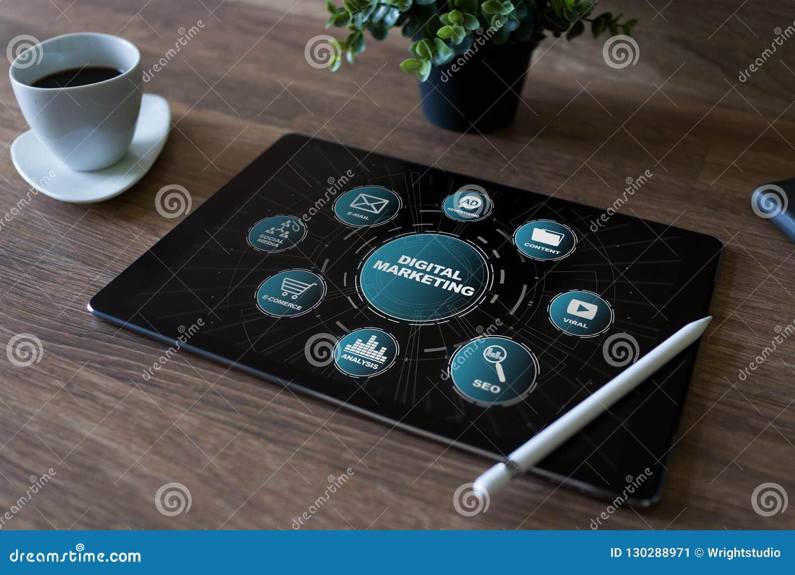 Concept de vente de Digital sur l écran Affaires et concept d Internet