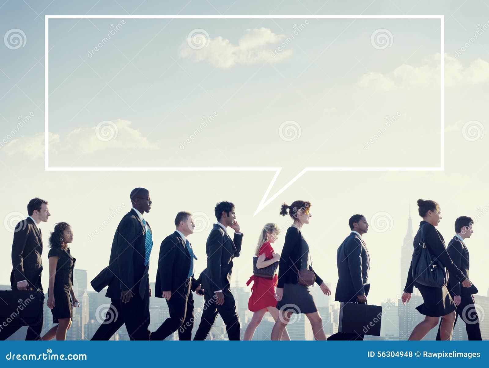 Concept de ville de Team Business People Corporate Walking