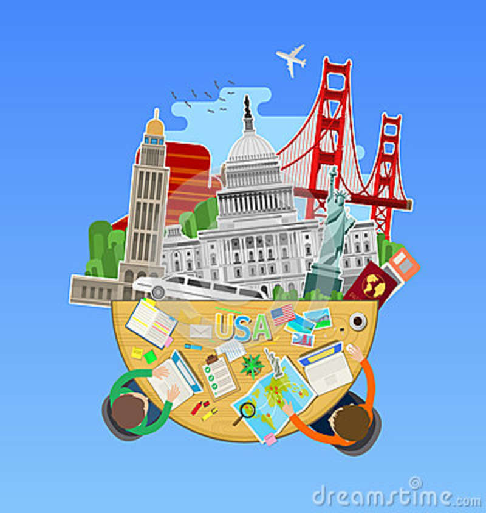 Concept De Voyage Ou D Anglais D Etude Illustration De