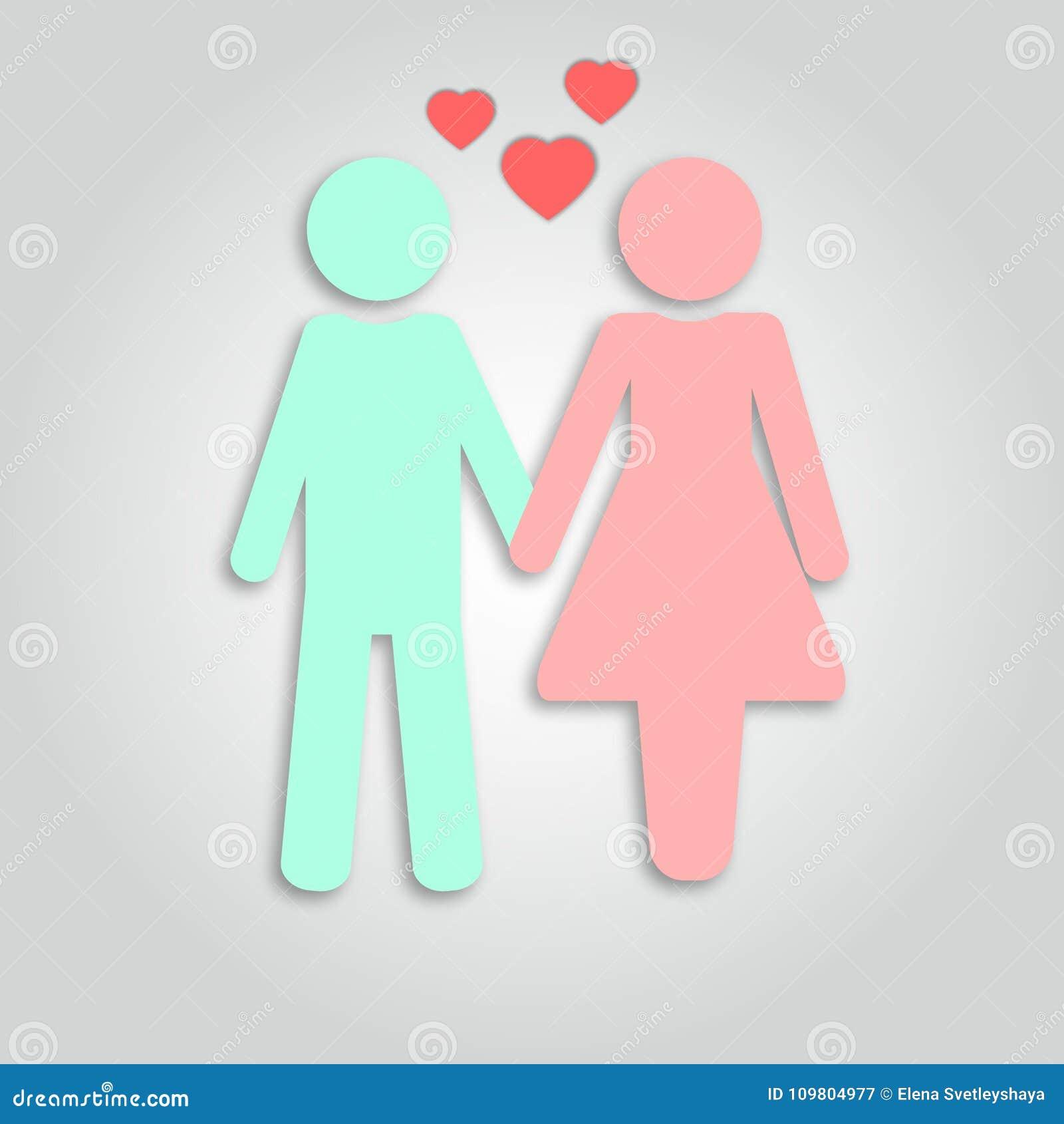Concept Des Relations D Amour De Femme Et D Homme Couple Dans L