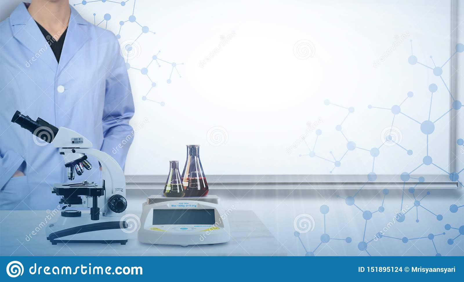 Scientist Lab Banner Stock Photo Image Of Banner University 151895124
