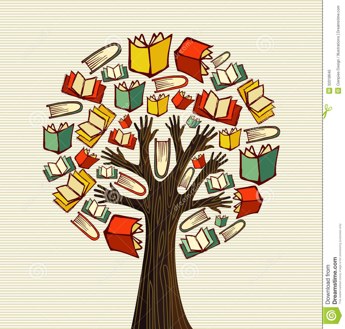 Concept Design Hand Books Tree Royalty Free Stock Photo ...