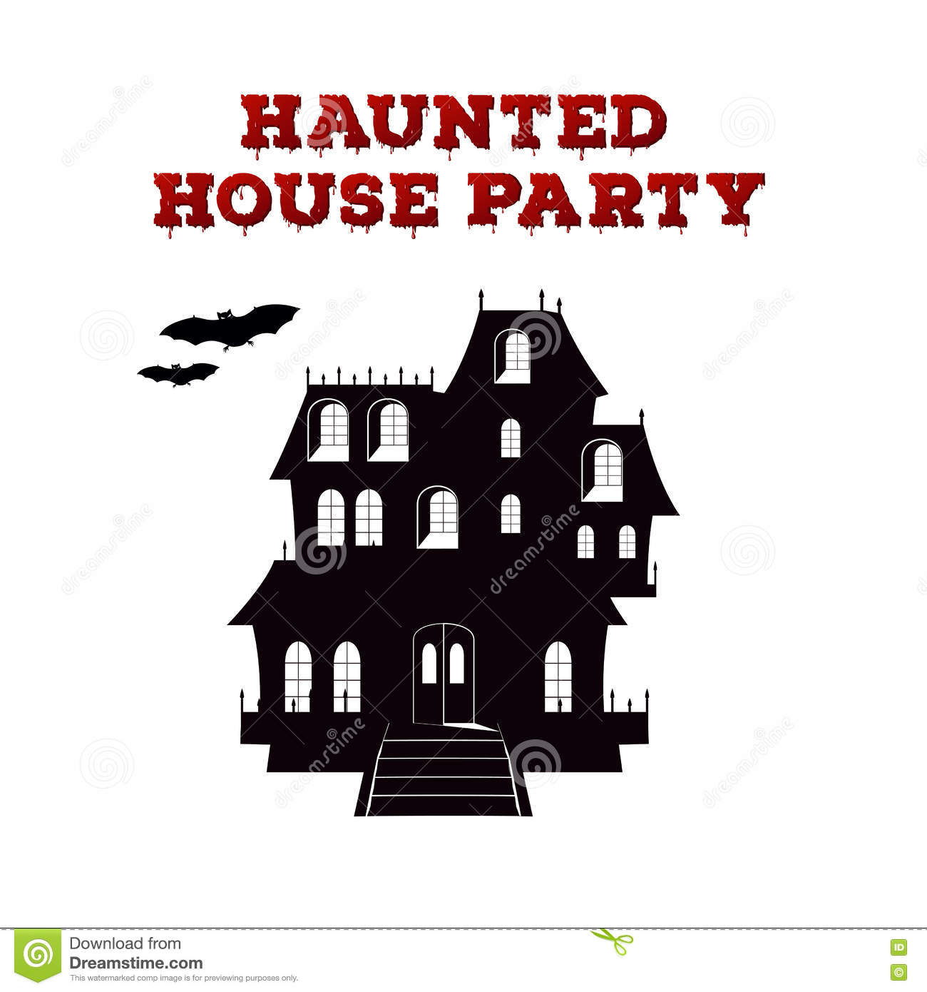 Haunted House Template | Concept Design Of The Invitation Flyer For Halloween Party Poster