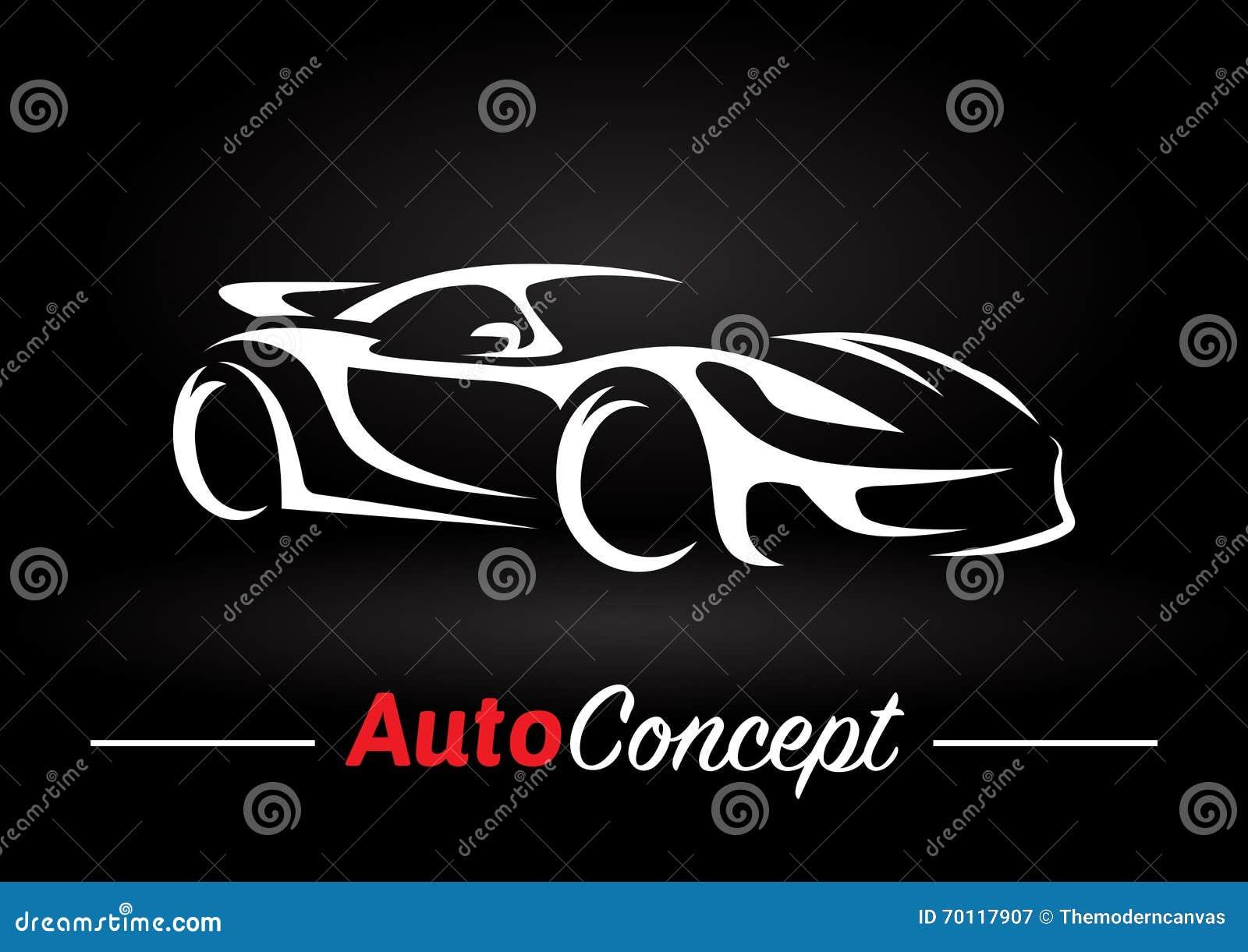 Fast car outline logo 11