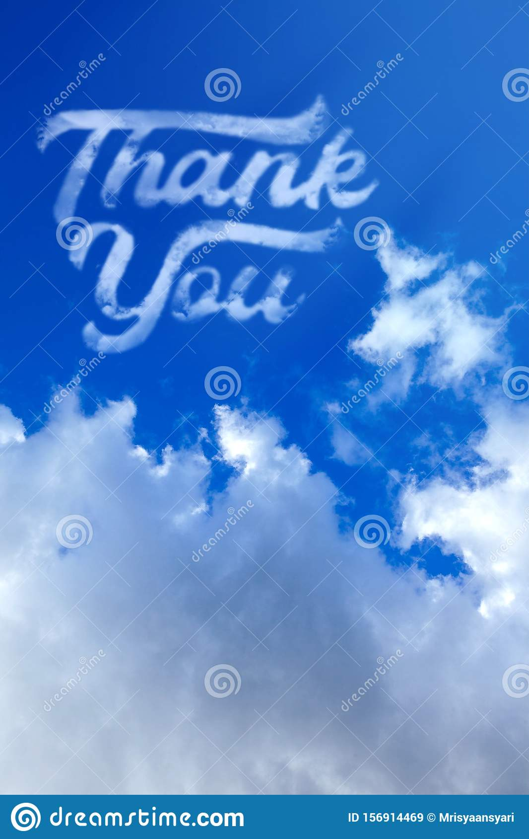 Thank You Clouds In The Sky Stock Image Image Of Concept Smoke
