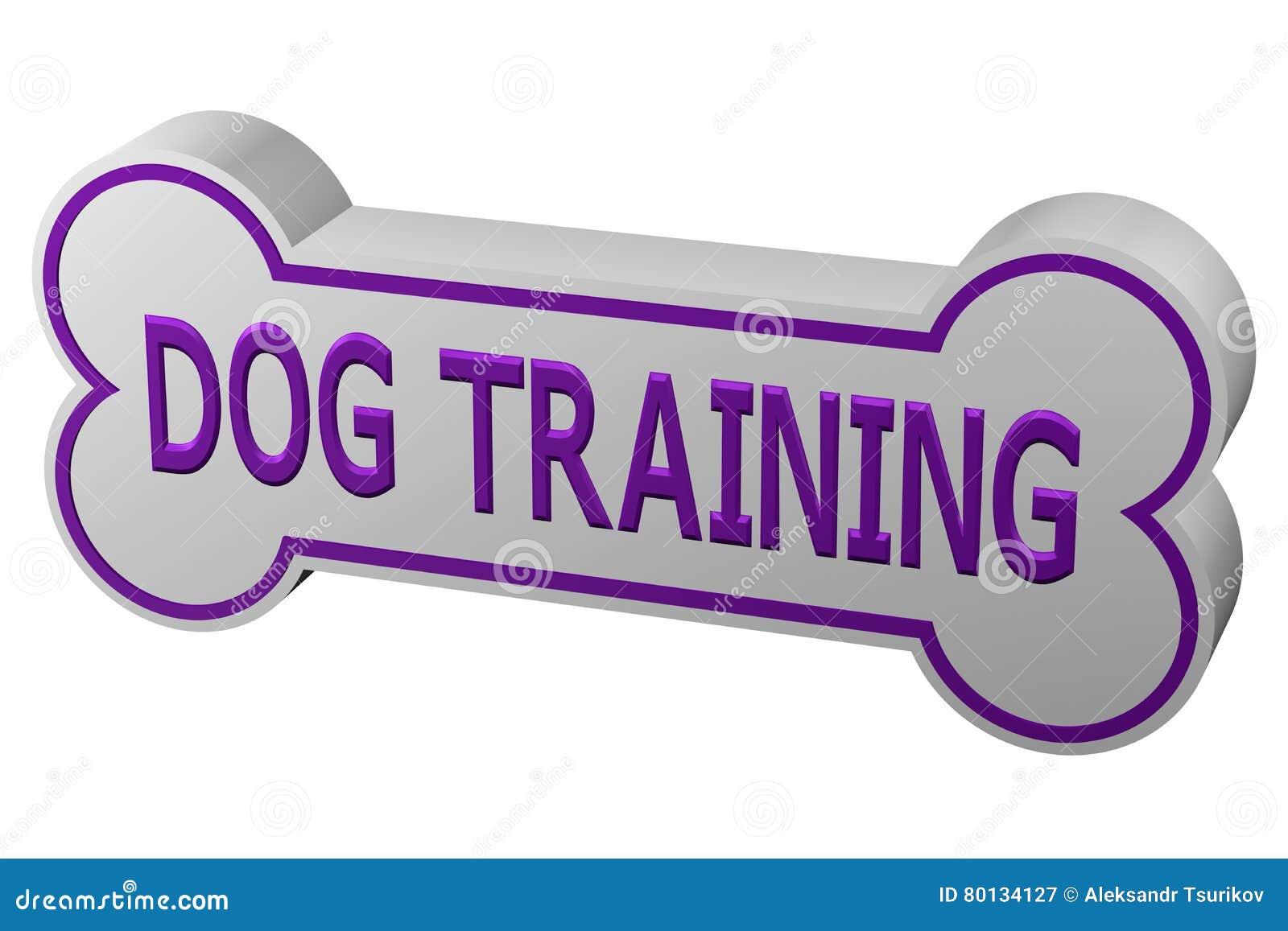 Concept: Dog Training  3D Rendering  Stock Illustration