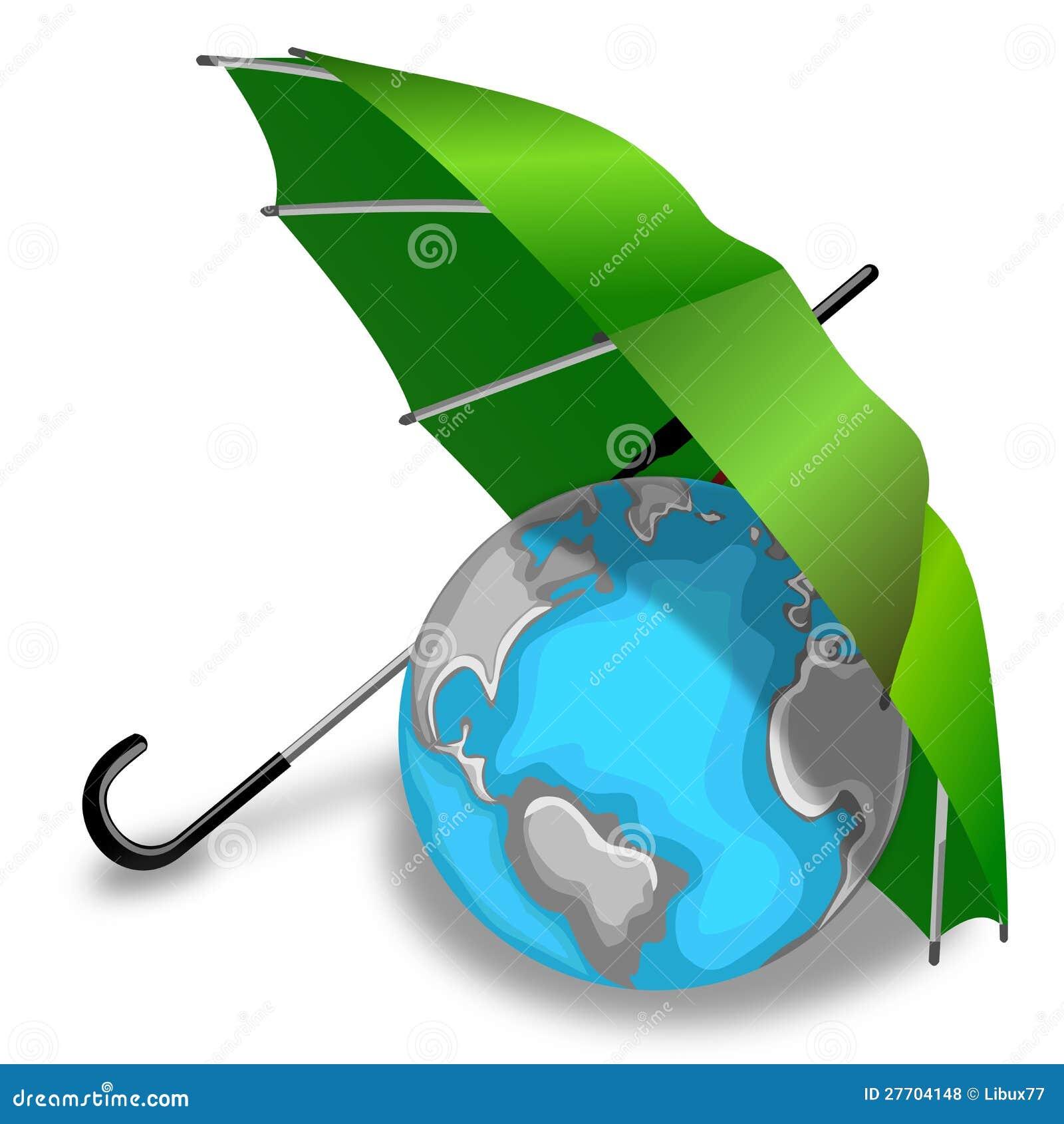 Global Warming Earth Umbrella Stock Illustrations – 39 Global ...