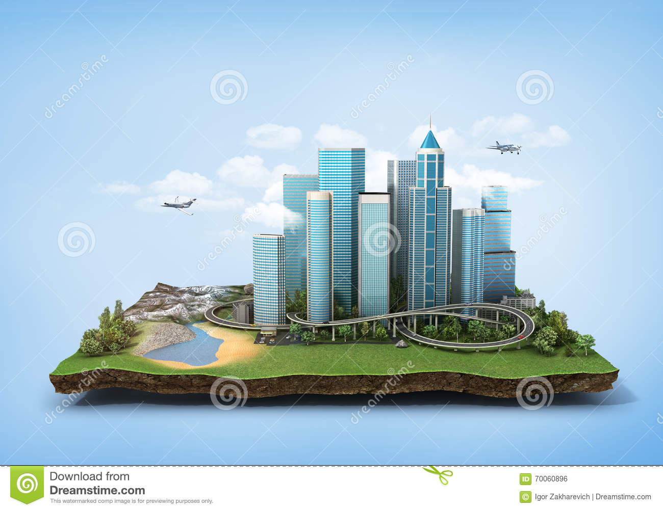 green eco city skyline concept cartoon vector. Black Bedroom Furniture Sets. Home Design Ideas