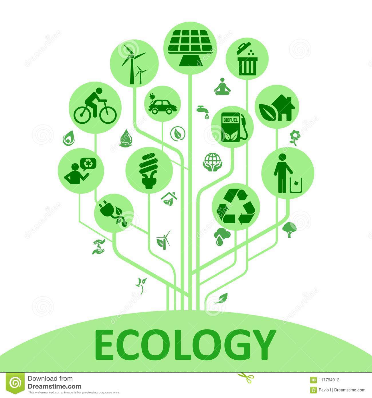 Concept ecology tree - vector