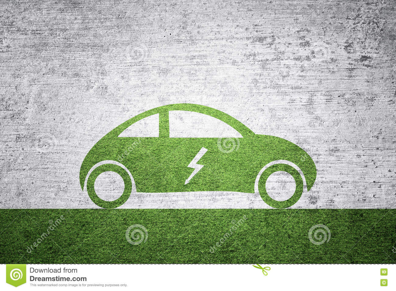 Concept Electric Car Background Stock Photo Image