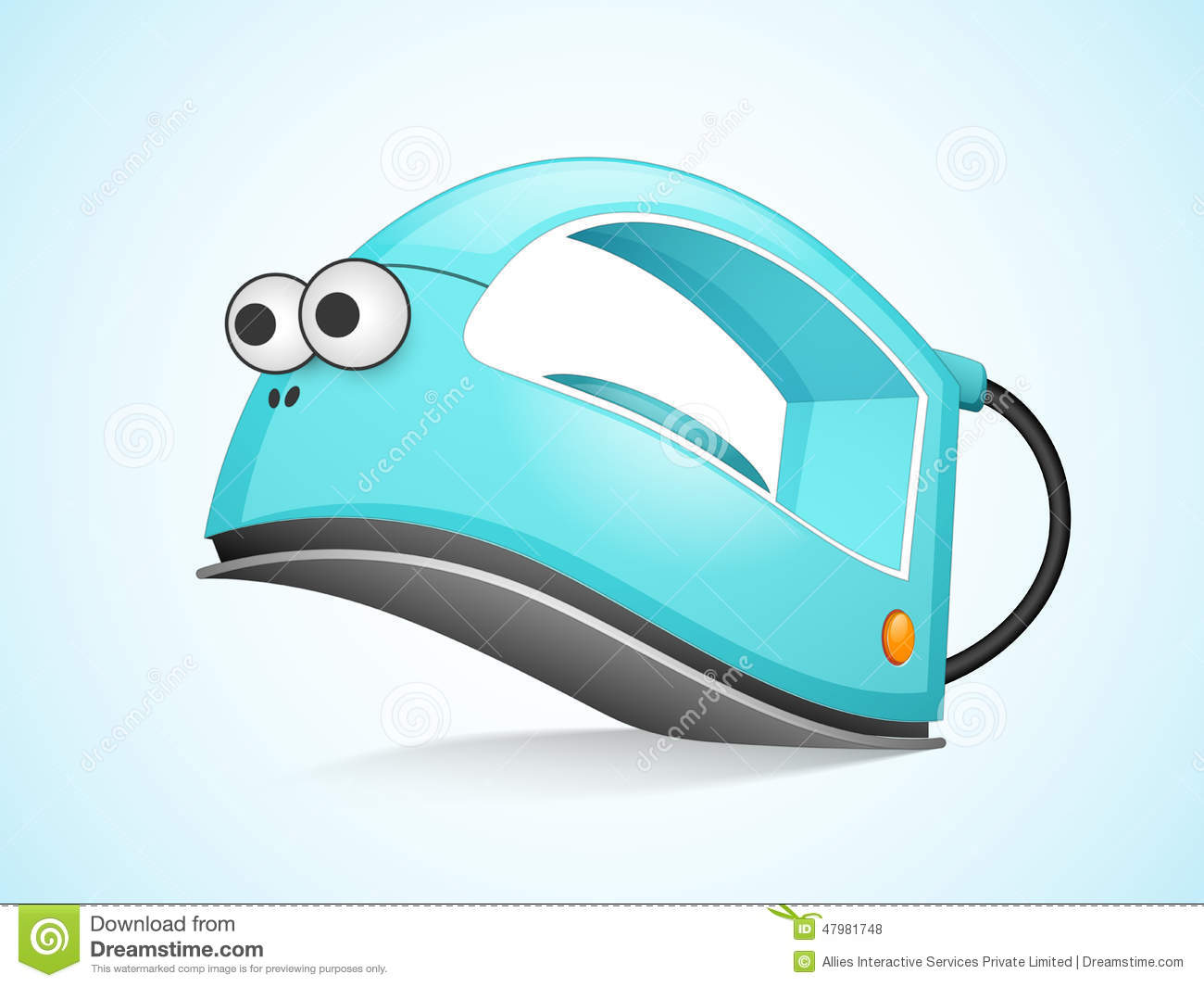 Concept Of Electronic Items With Iron Stock Illustration