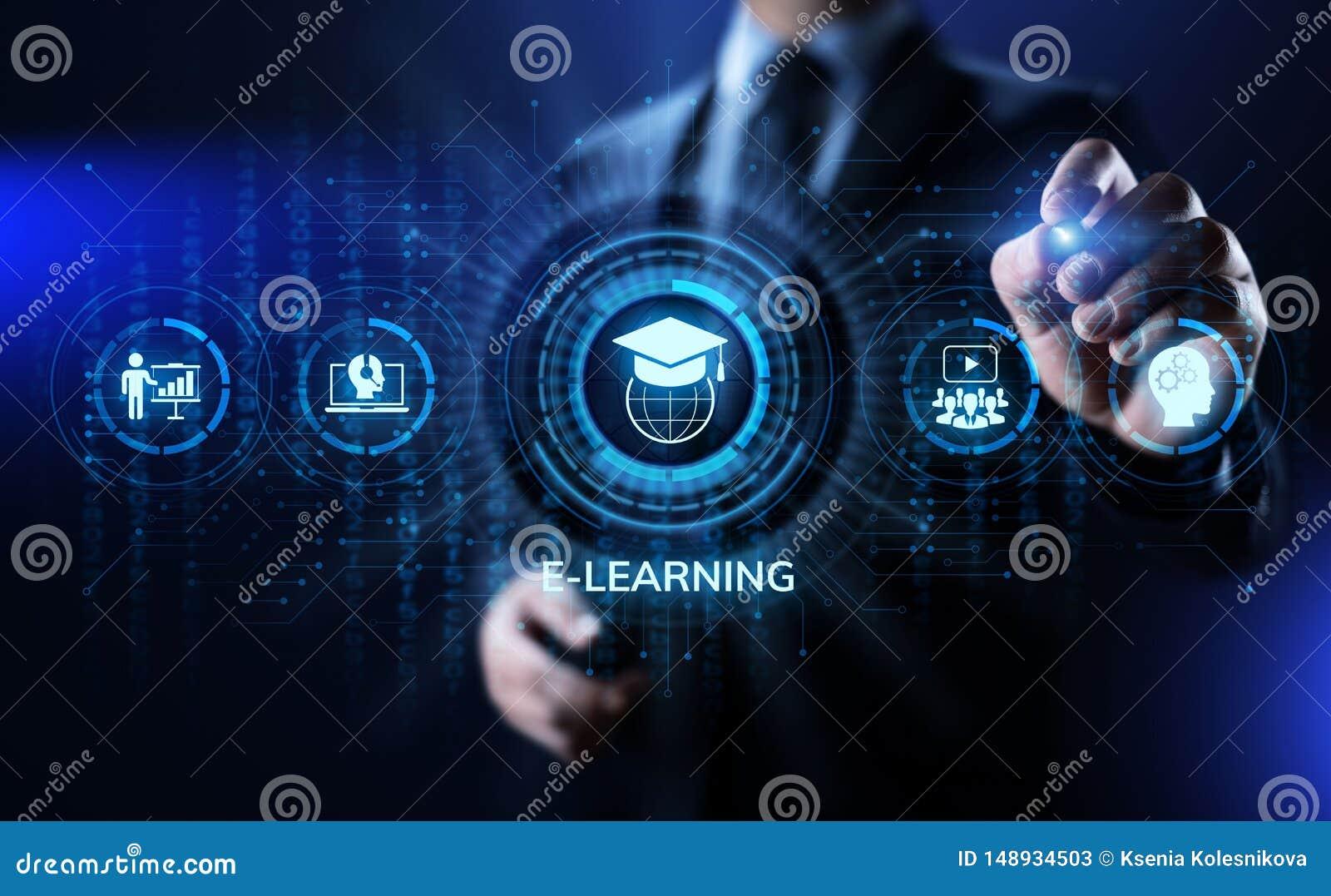 Concept en ligne d Internet d affaires d ?ducation d apprentissage en ligne sur l ?cran