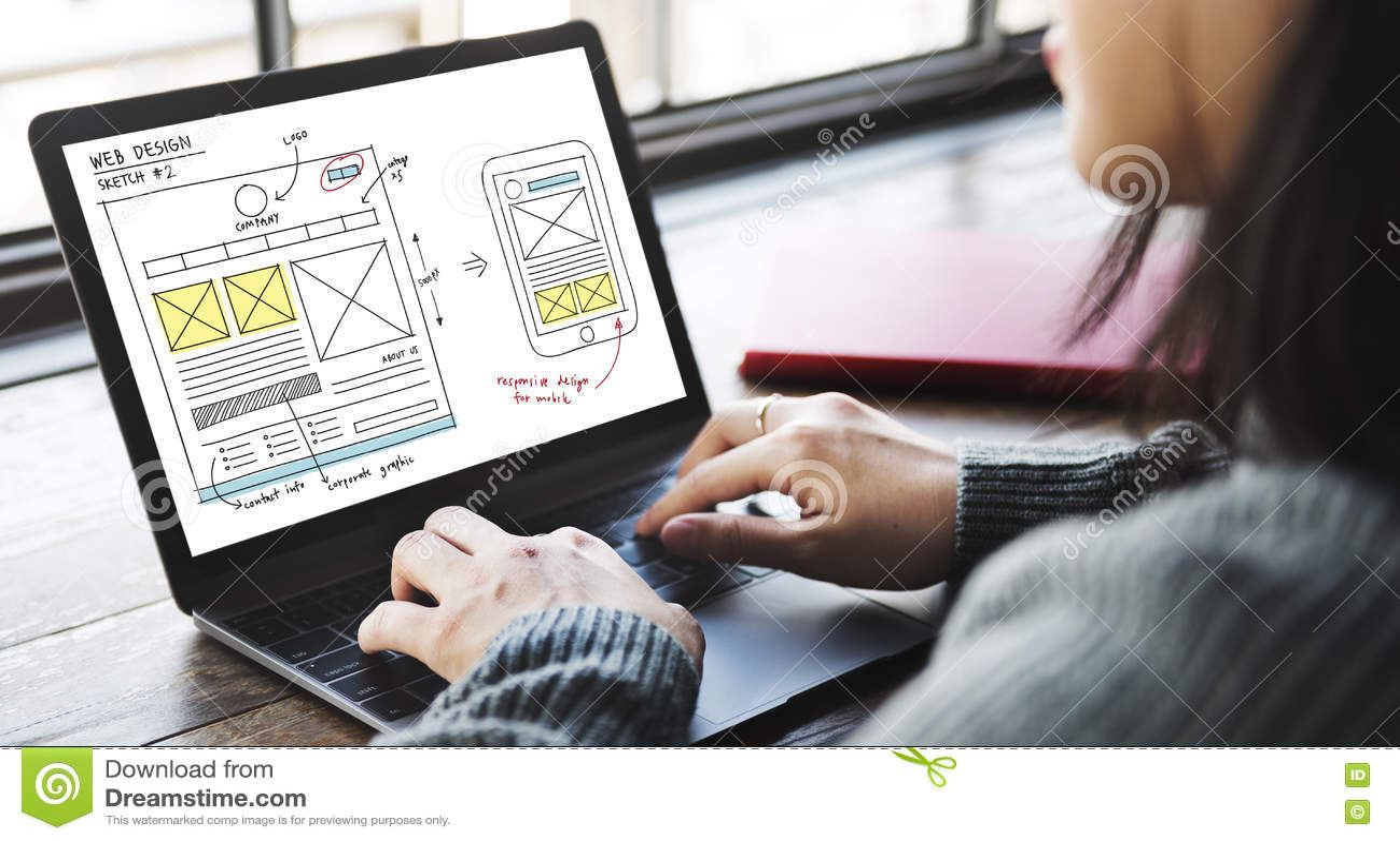 Concept en ligne de contenu de technologie de web design