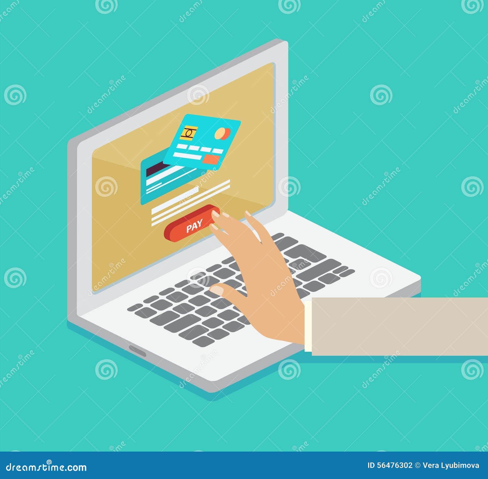 Concept en ligne de paiement