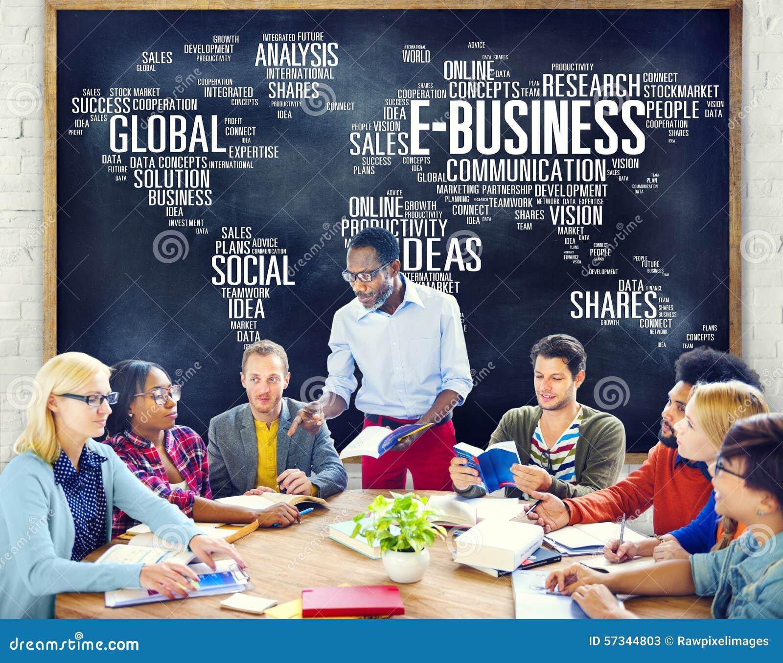 Concept en ligne du monde de commerce d affaires globales de commerce en ligne