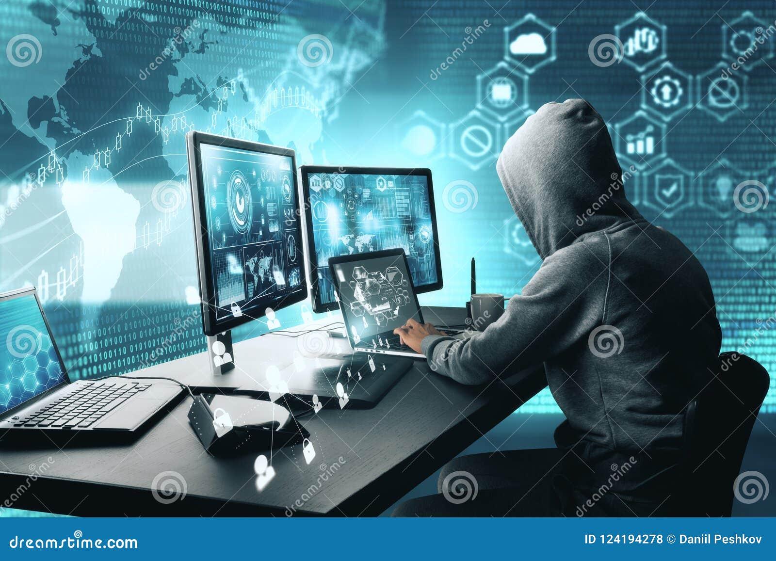 Concept entaillant et phishing