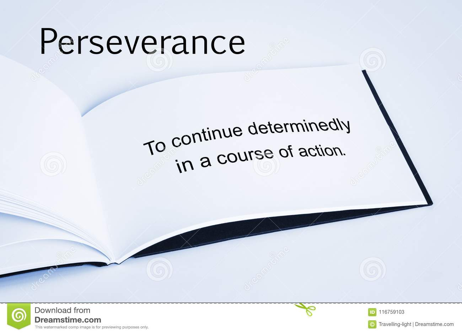Concept et définition de persévérance