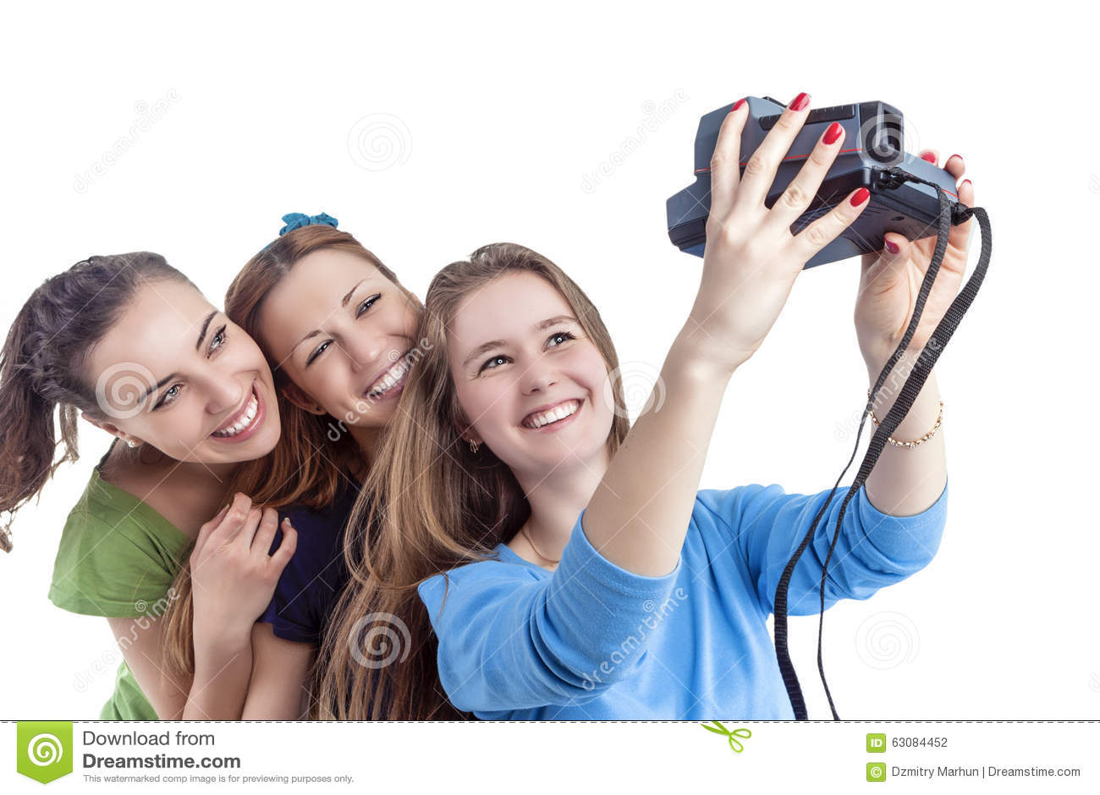 Download Concept Et Idées De Mode De Vie De La Jeunesse Trois Jeune Smilig Positif C Photo stock - Image du mobile, photo: 63084452