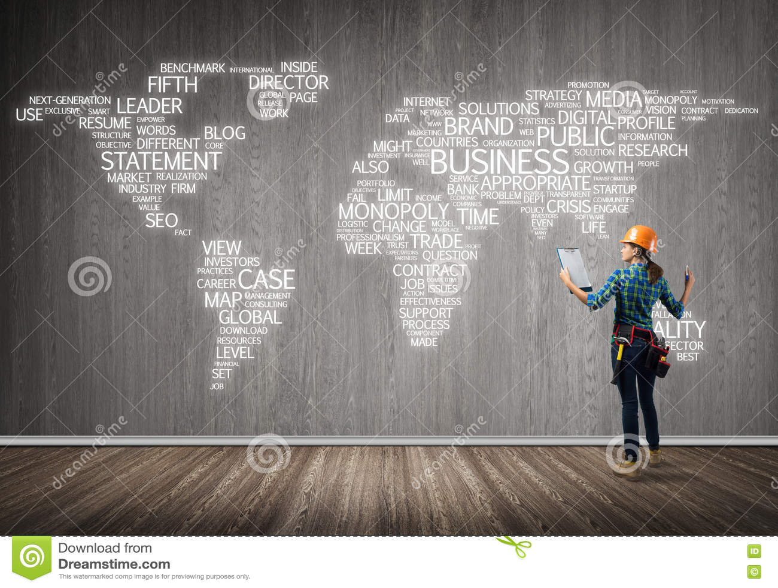 Concept et mondialisation de construction