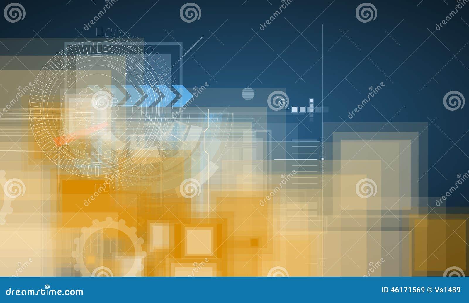 Concept extrèmement haut de technologie Puissance virtuelle des affaires