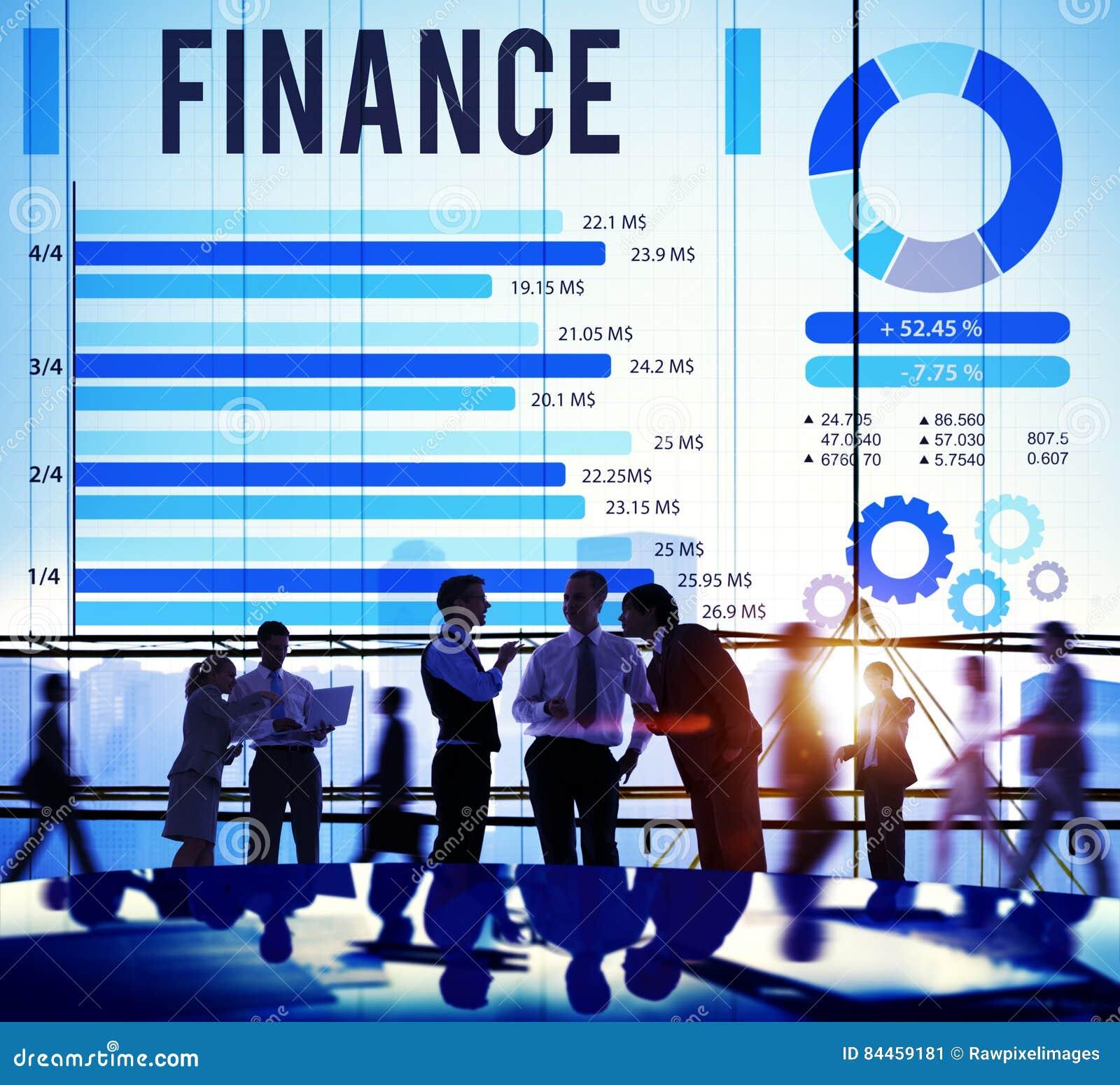 Concept financier d argent d investissement d économie de finances