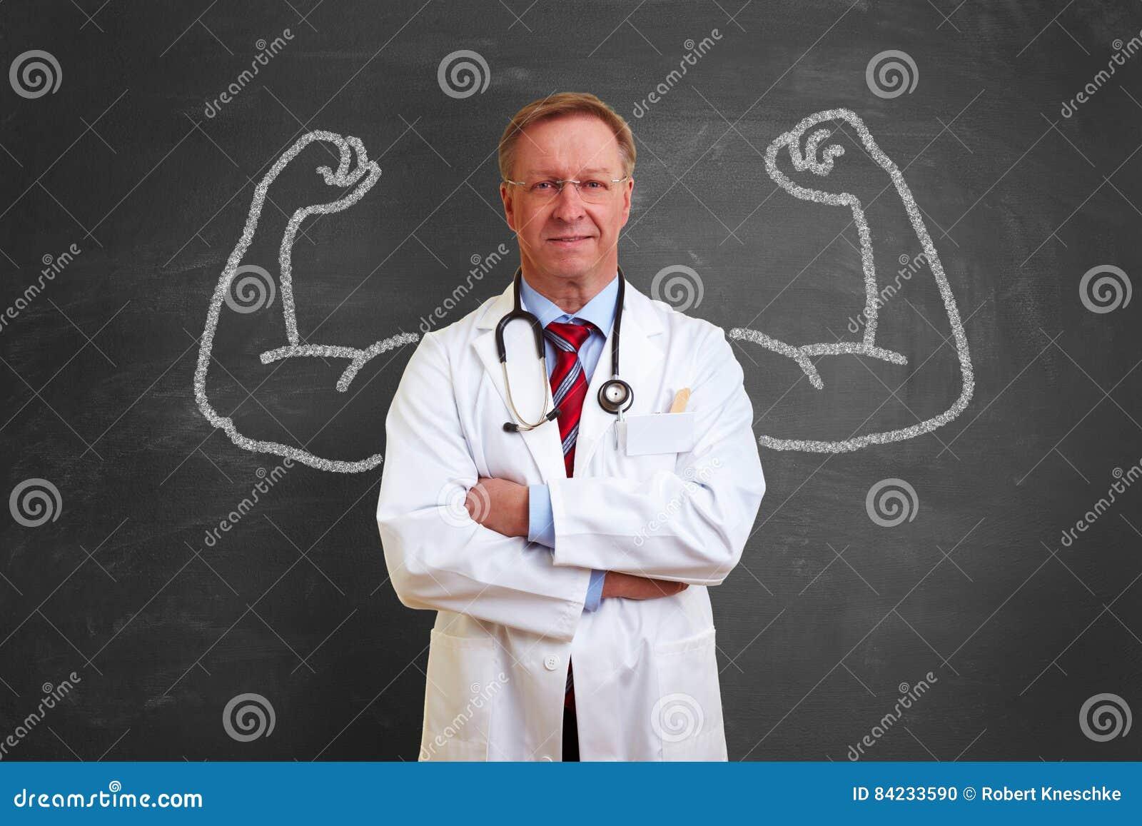 Concept fort de docteur