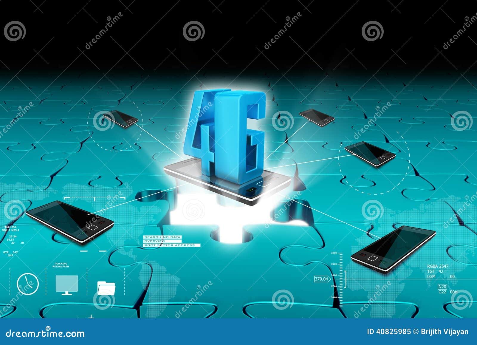 Concept Of 4g Technology Stock Illustration  Illustration