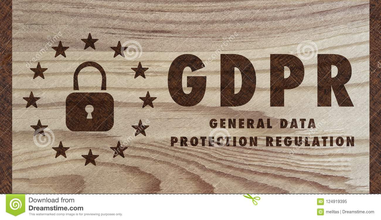 General Data Protection Regulation On Wood - GDPR