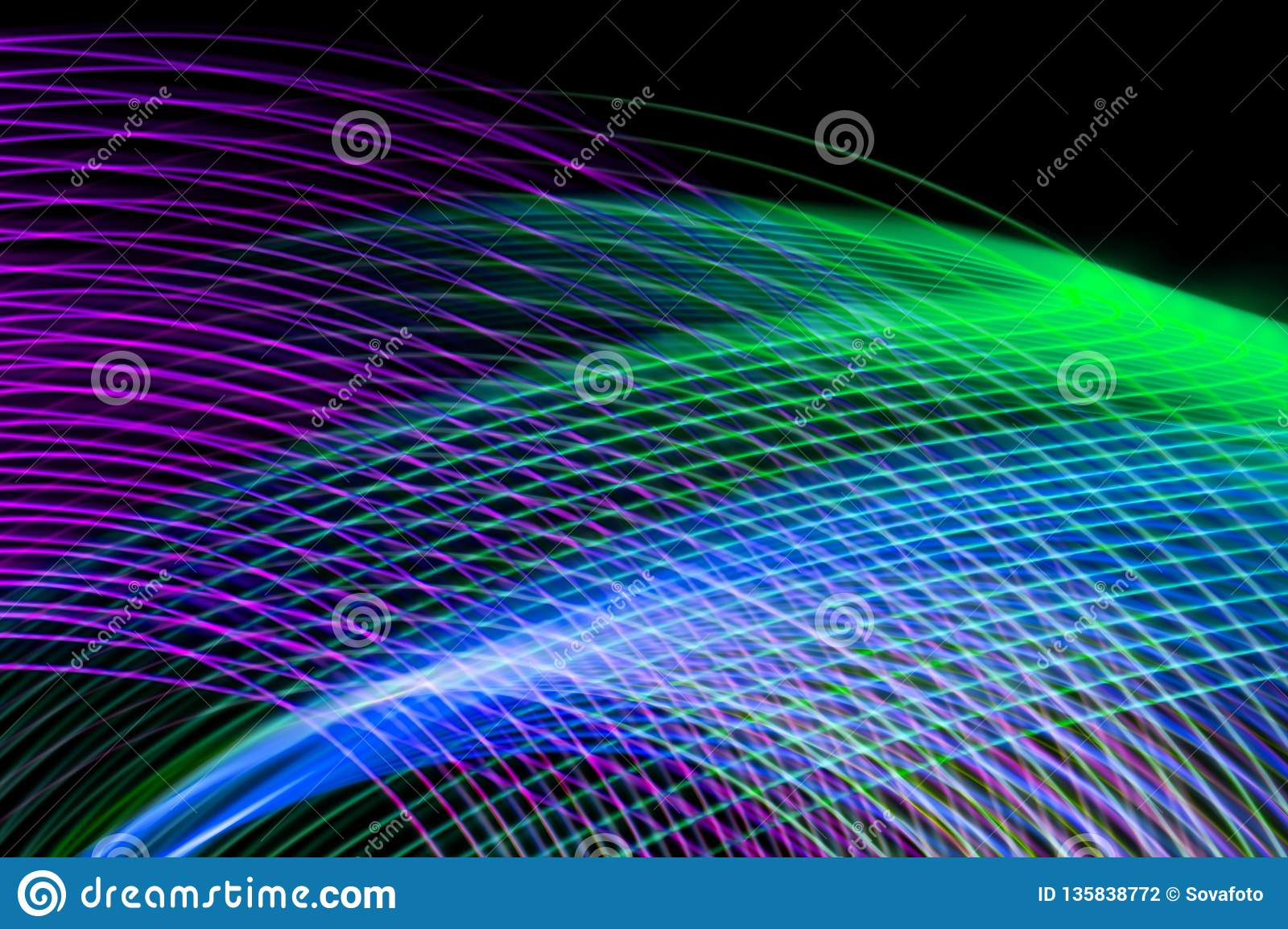 Colorful Christmas Lights Aesthetic.The Concept Of Geometric Aesthetics Stock Illustration