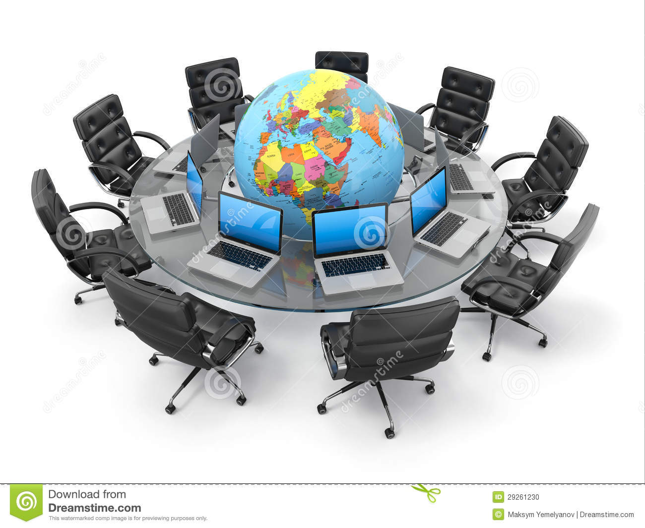 Concept Of Global Business Communication 3d Stock