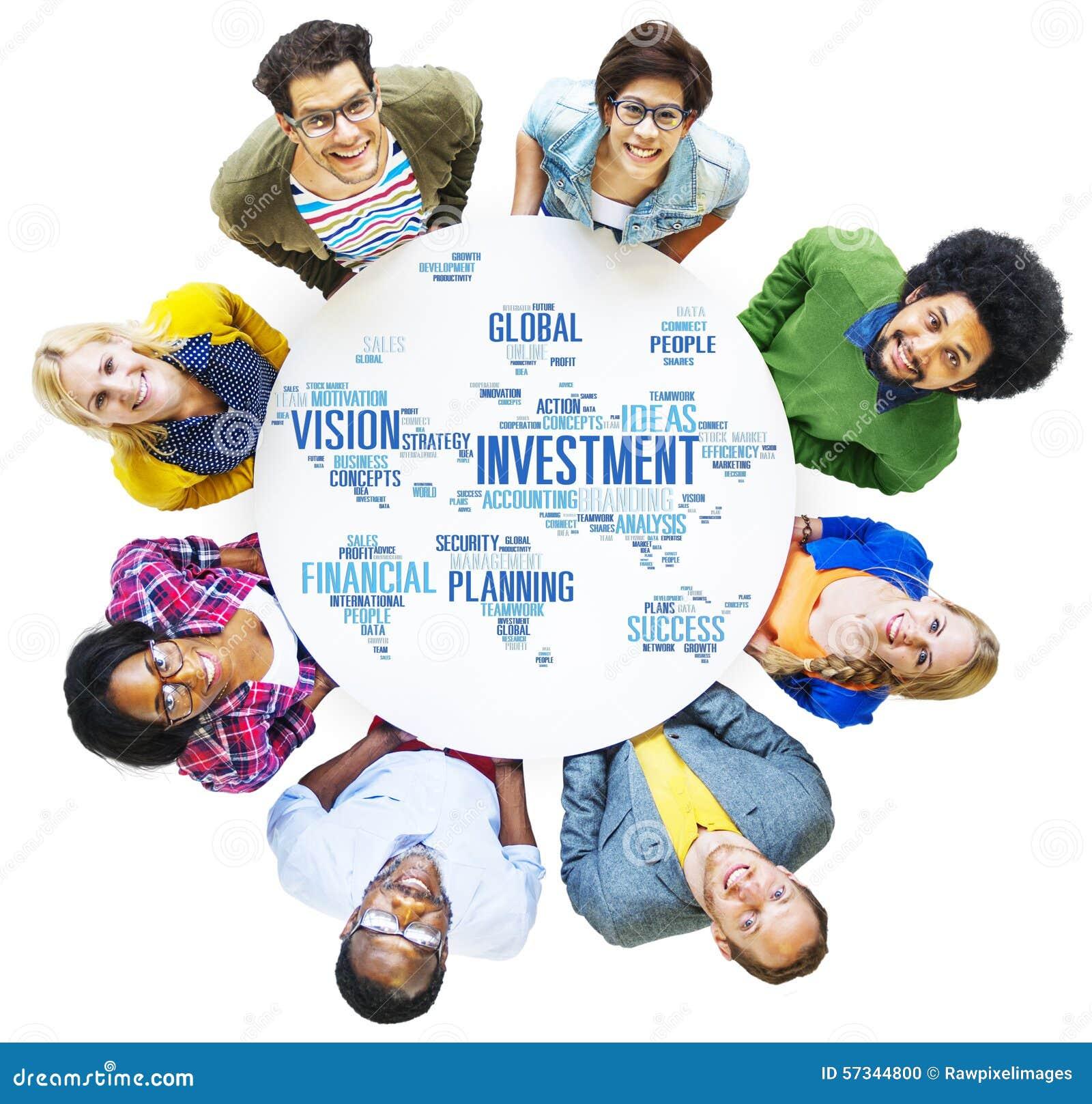 Concept global de budget d opérations bancaires de bénéfice d investissement