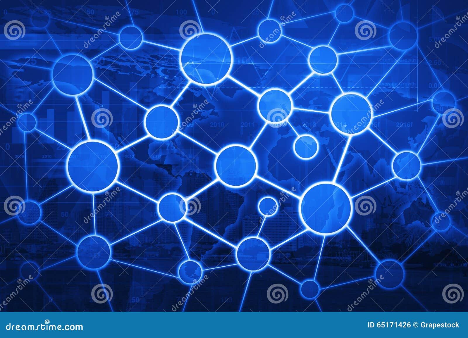 Concept global de réseau de relation d affaires sur la carte et la ville du monde