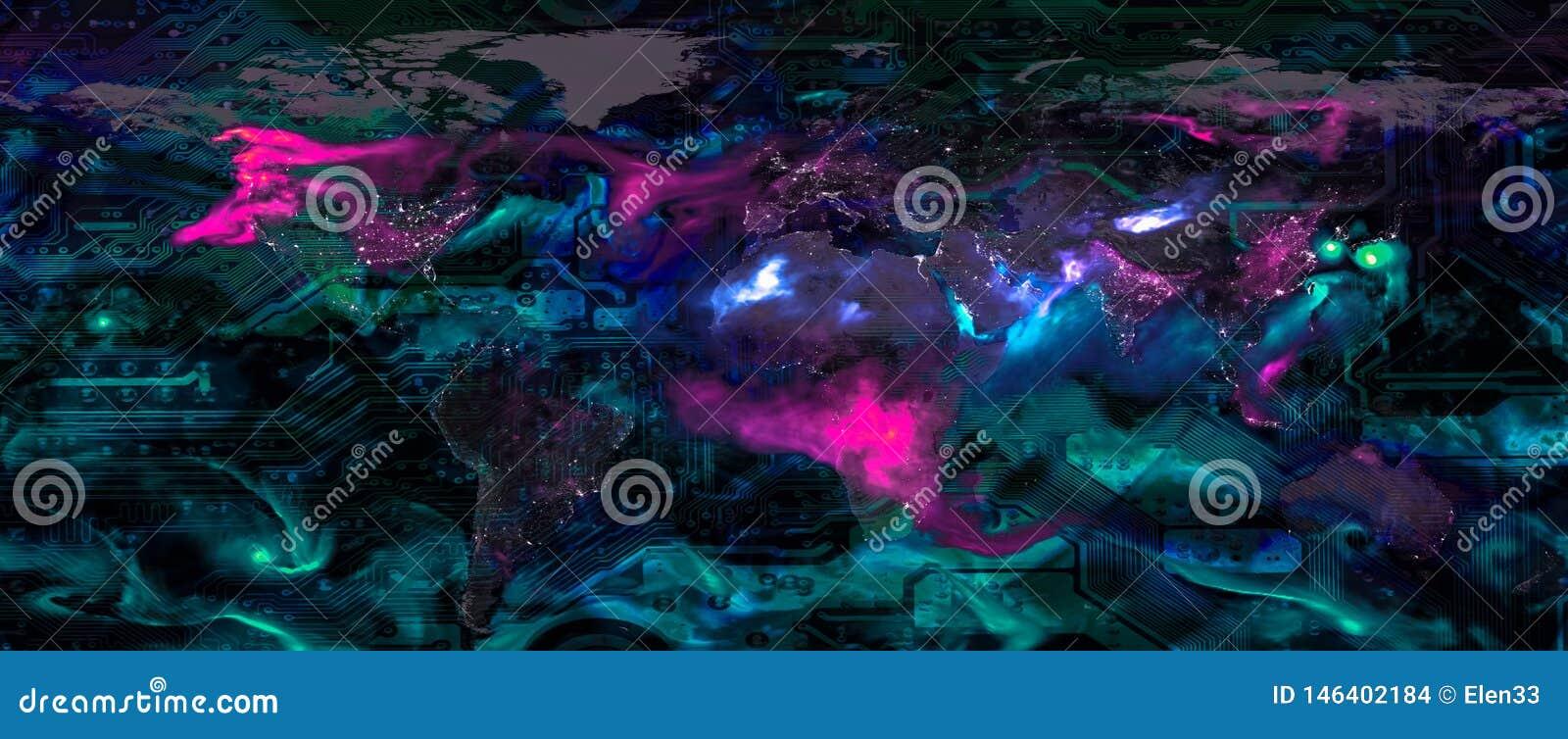 Concept global de technologie de Digital