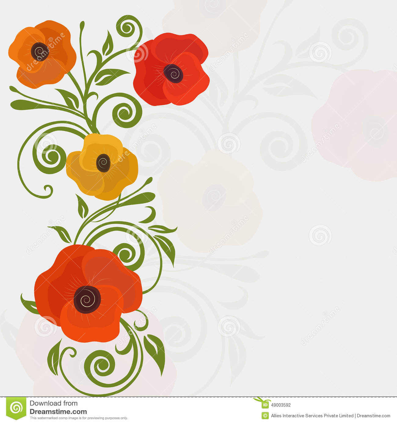 Concept Of Greeting Cards With Floral Decoration Stock Illustration