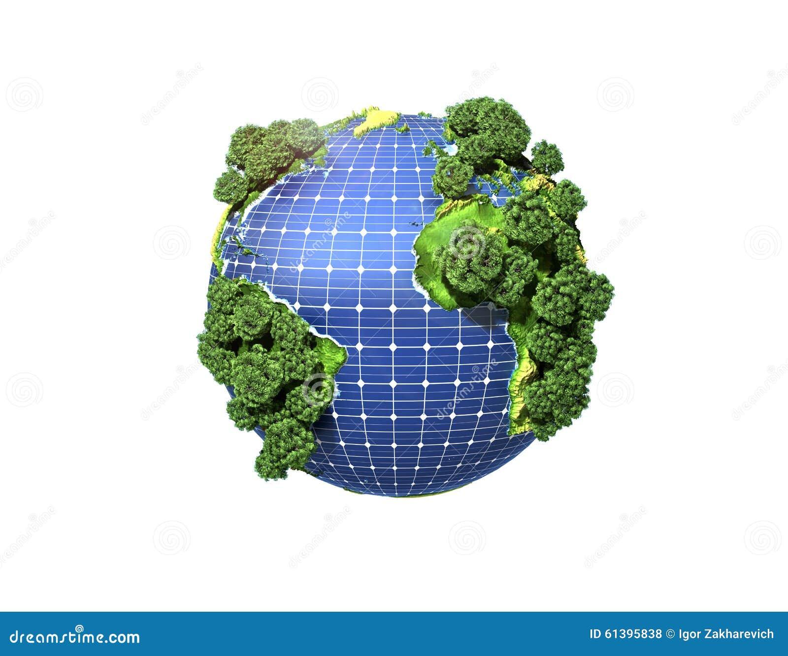 Concept groene zonne-energie
