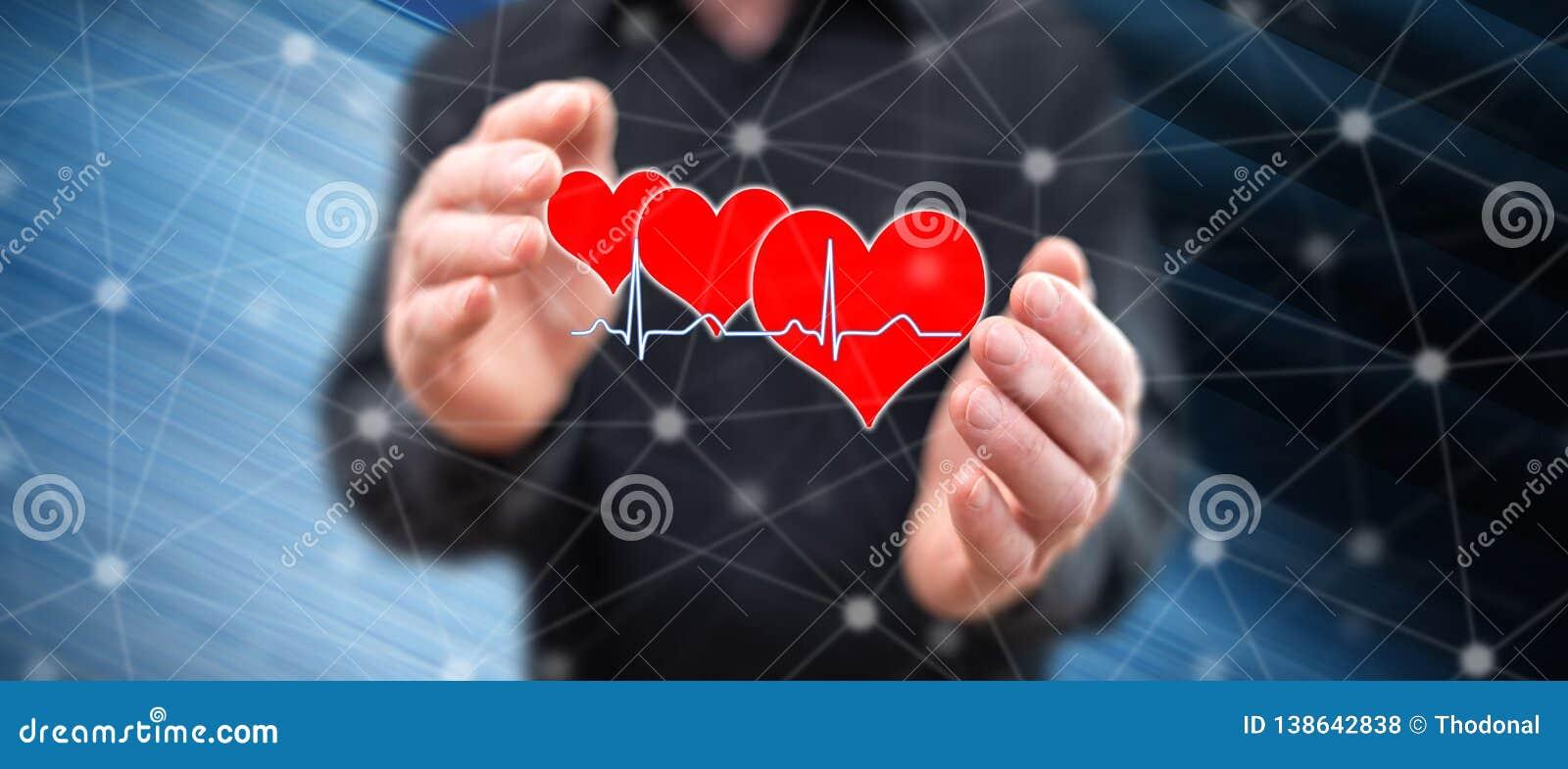 Concept of a heart beats graph