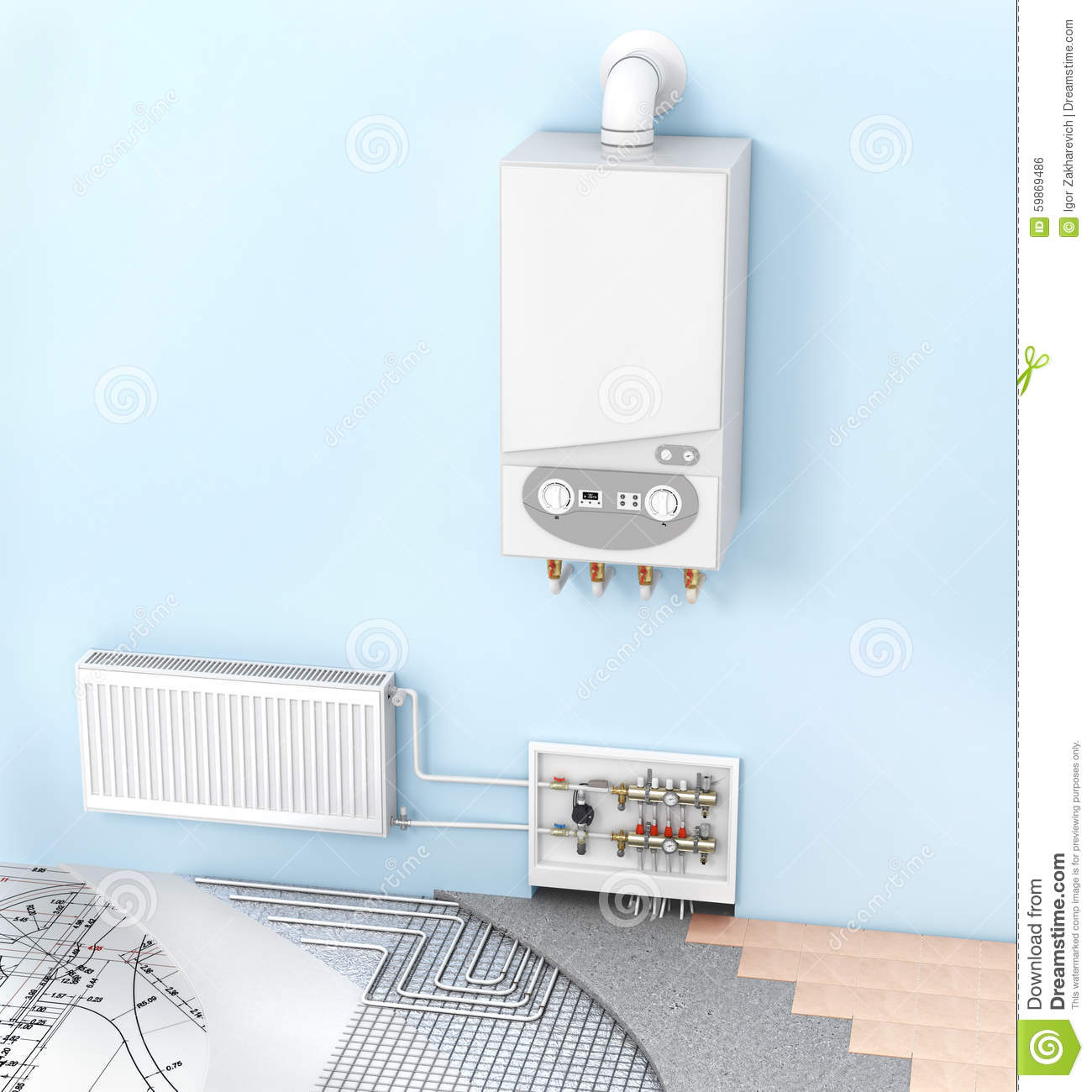 Heating Material Stock Photography Cartoondealer Com