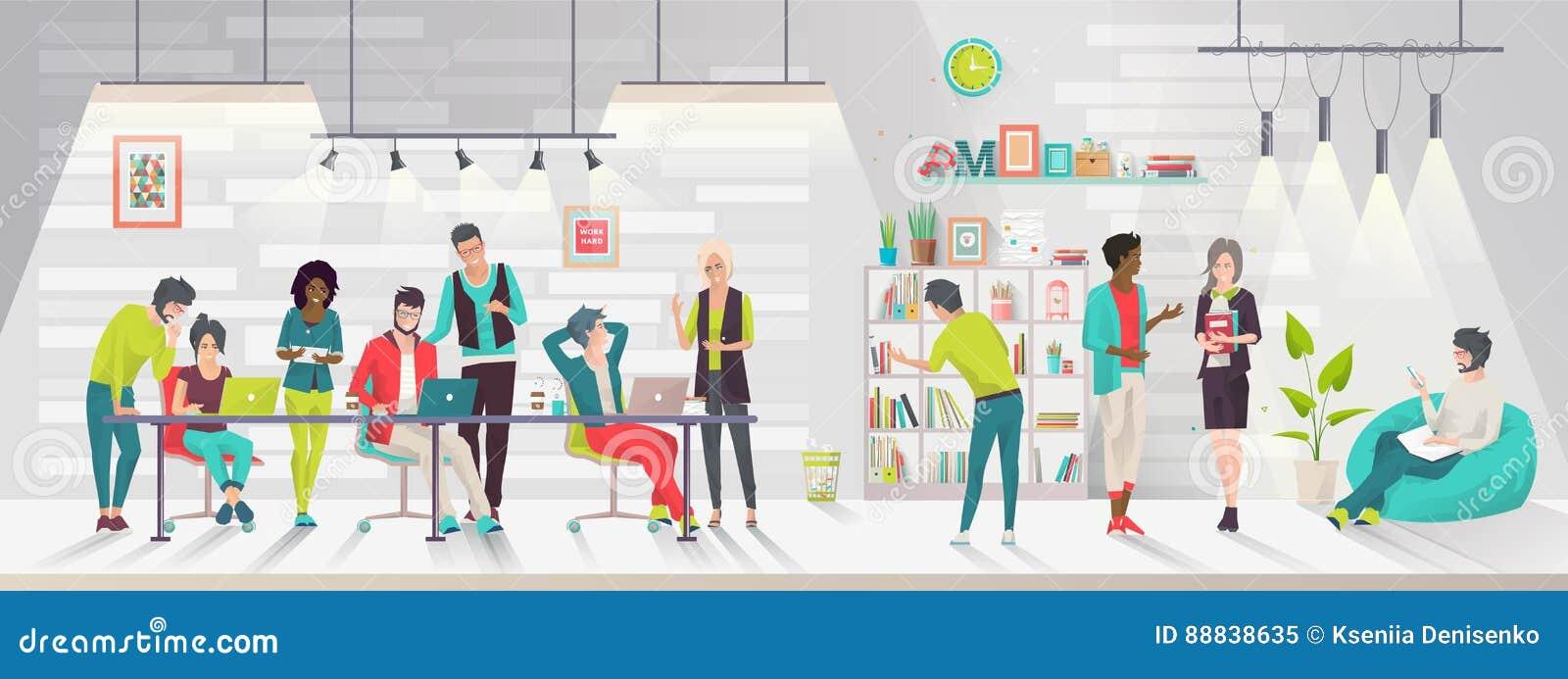Concept het coworking centrum