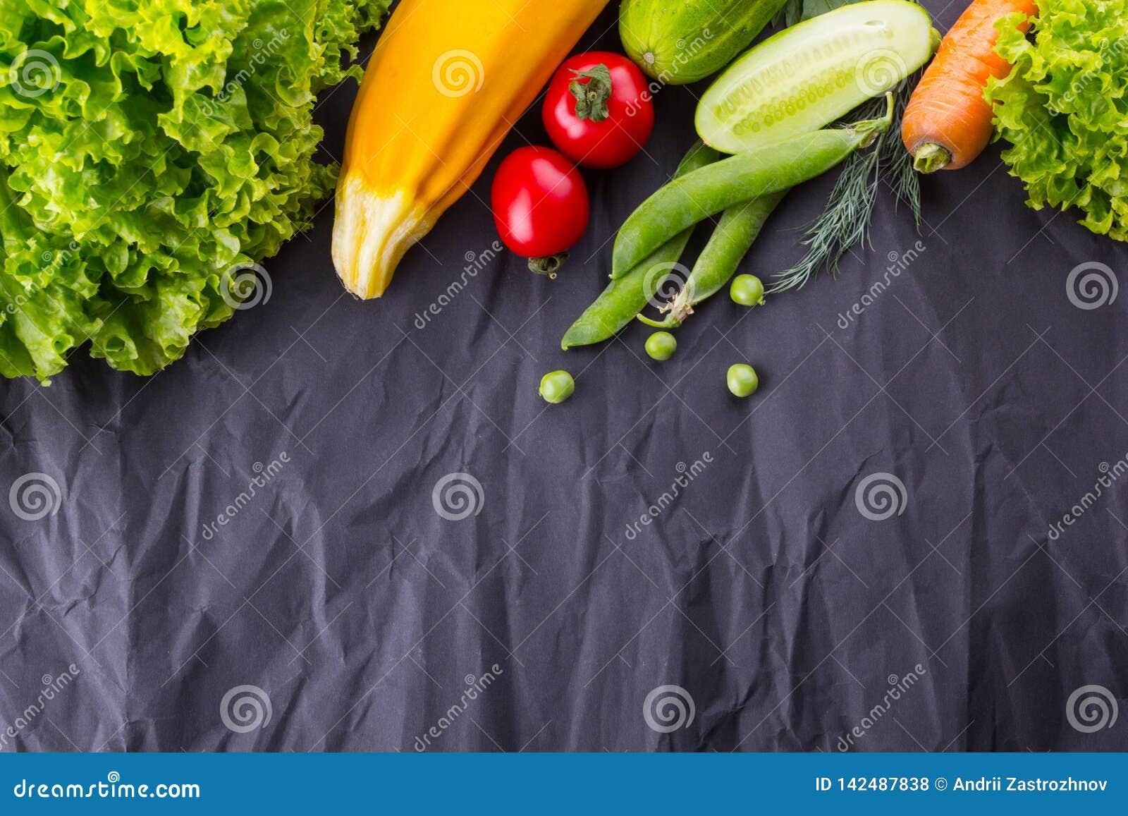Concept het gezonde en veganist eten Met ruimte voor tekst