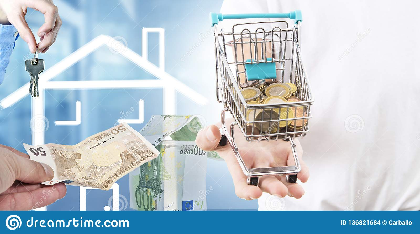Concept het kopen van huis