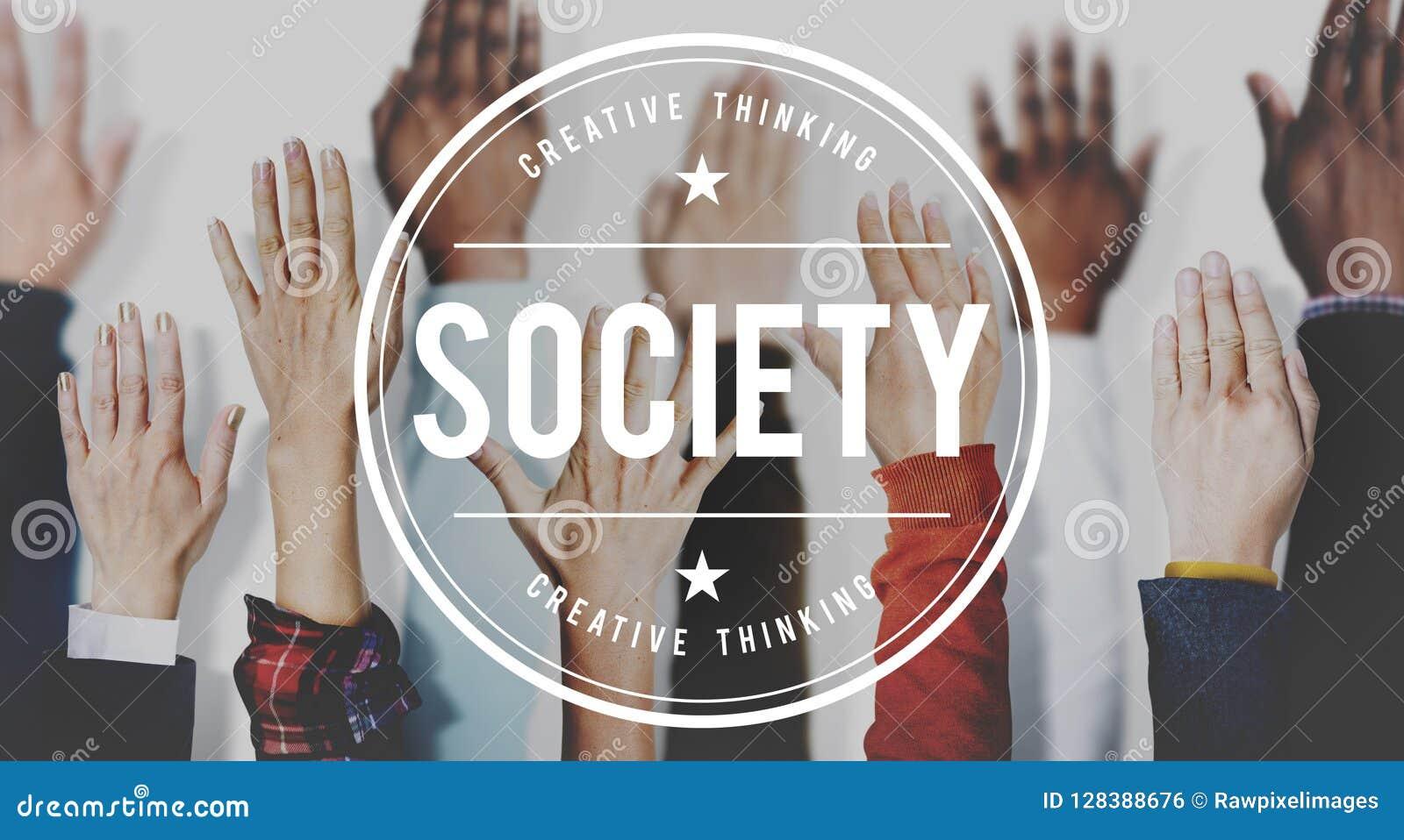 Concept humain de main de la Communauté de diversité de connexion de société